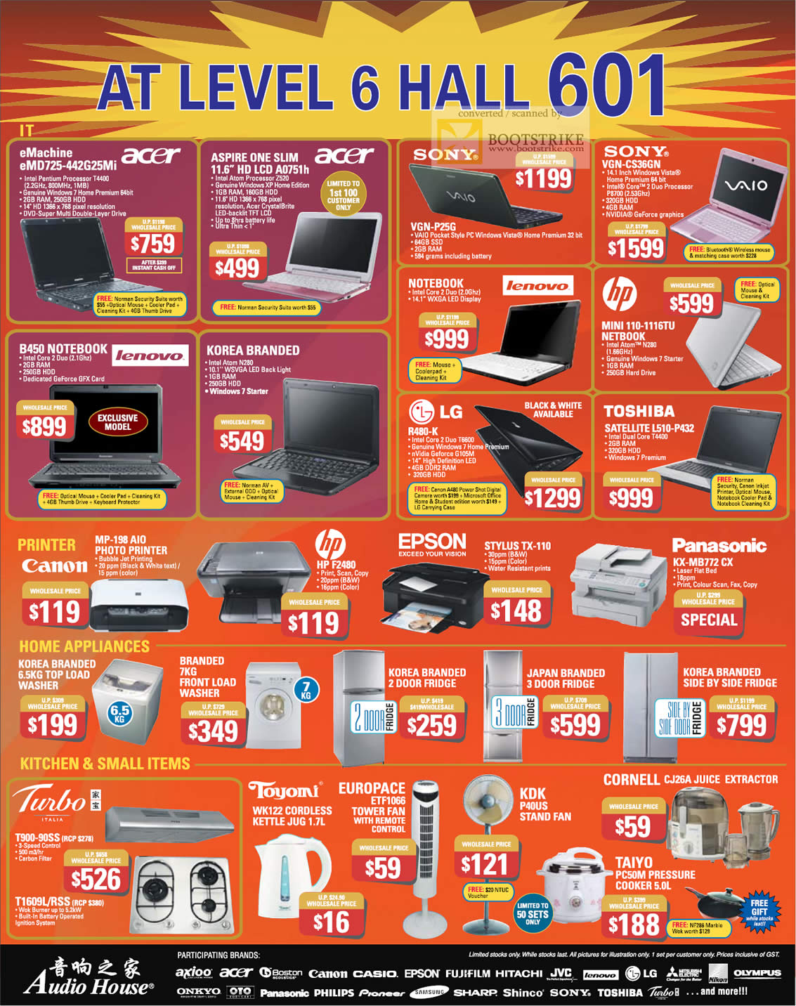 c3 clearance sales notebooks printers home appliances