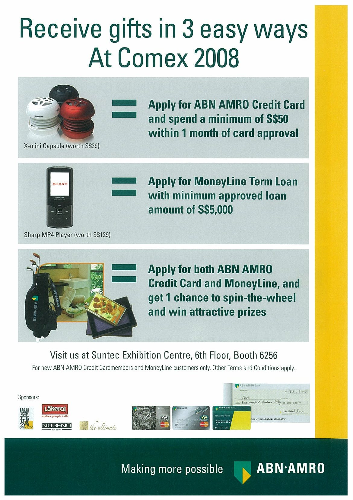 Comex 2008 price list image brochure of ABN AMRO Page 1