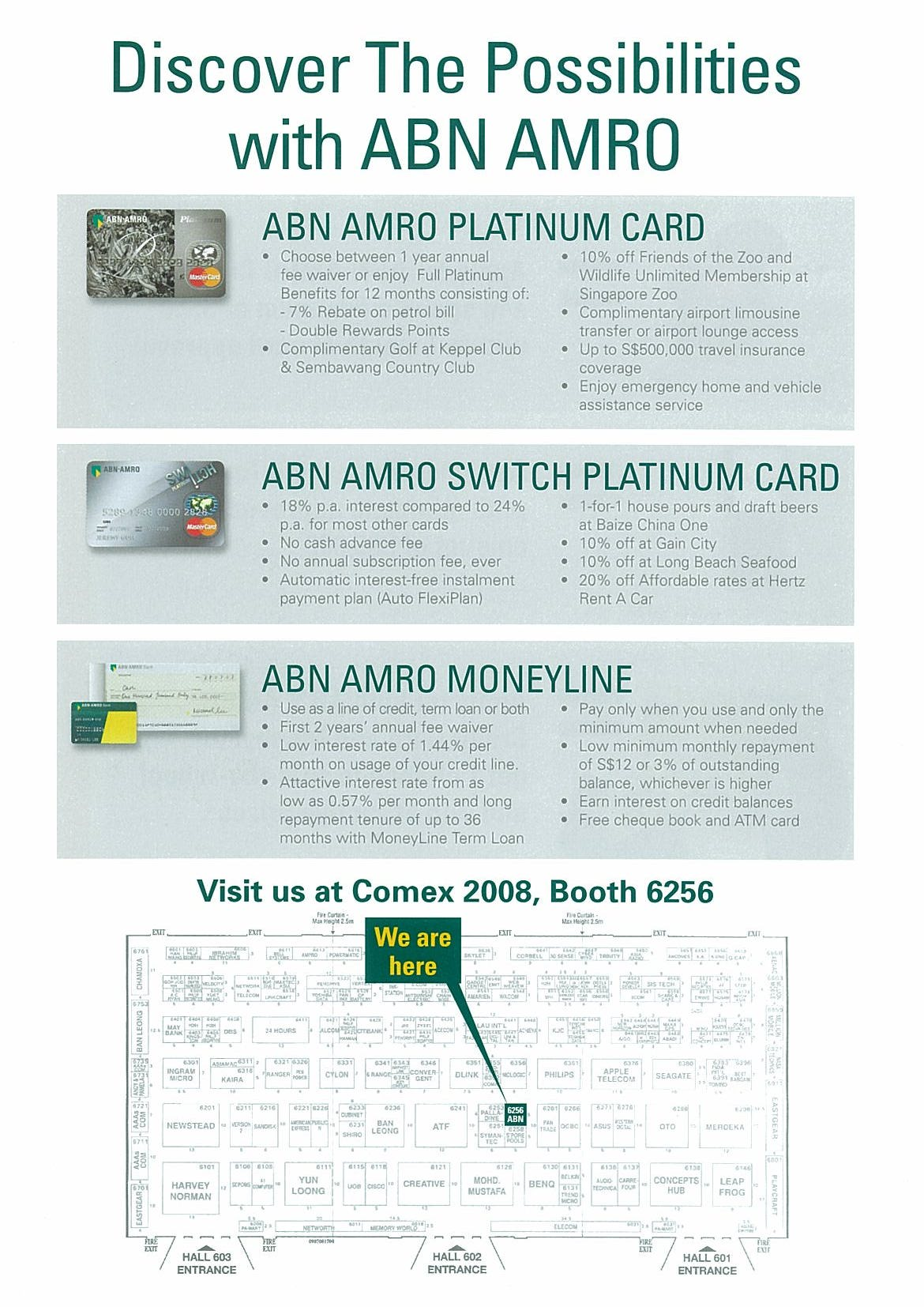 Comex 2008 price list image brochure of ABN AMRO Page 2