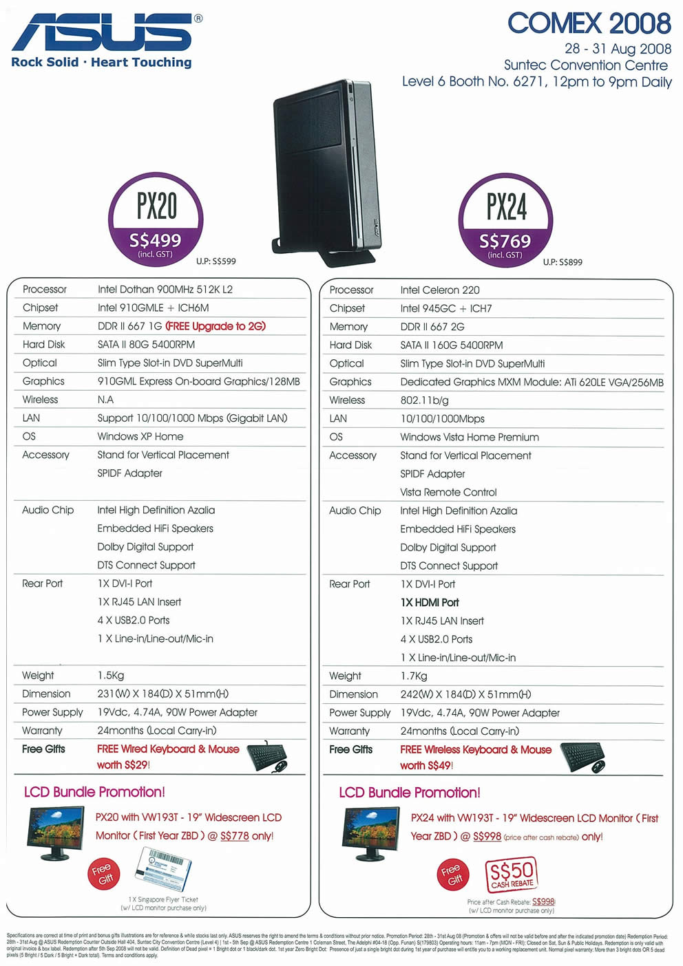 Comex 2008 price list image brochure of ASUS Mini 2L PC Page 2