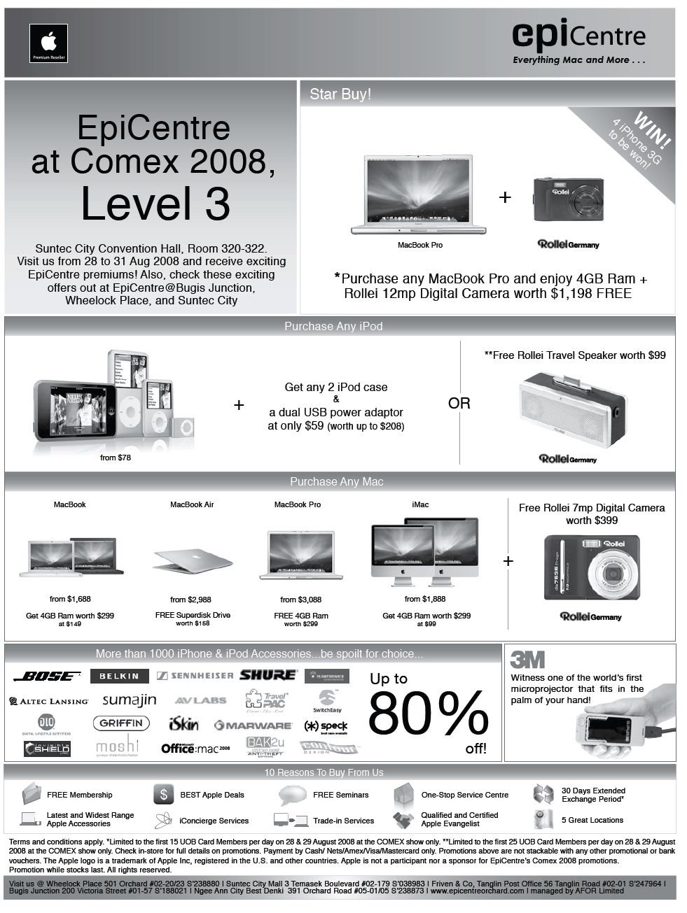 Comex 2008 price list image brochure of Apple Mac