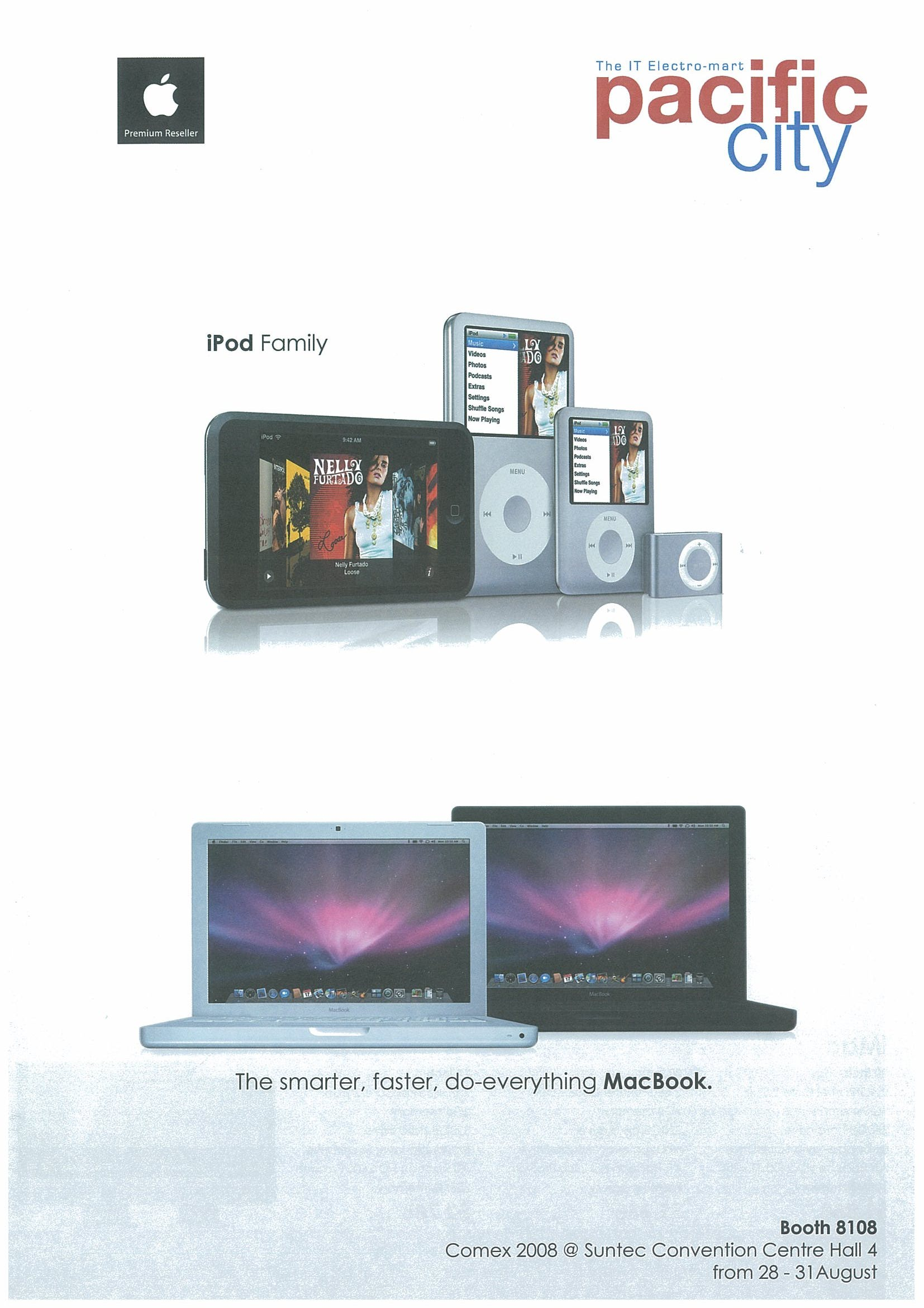 Comex 2008 price list image brochure of Apple Pacific City Page 1