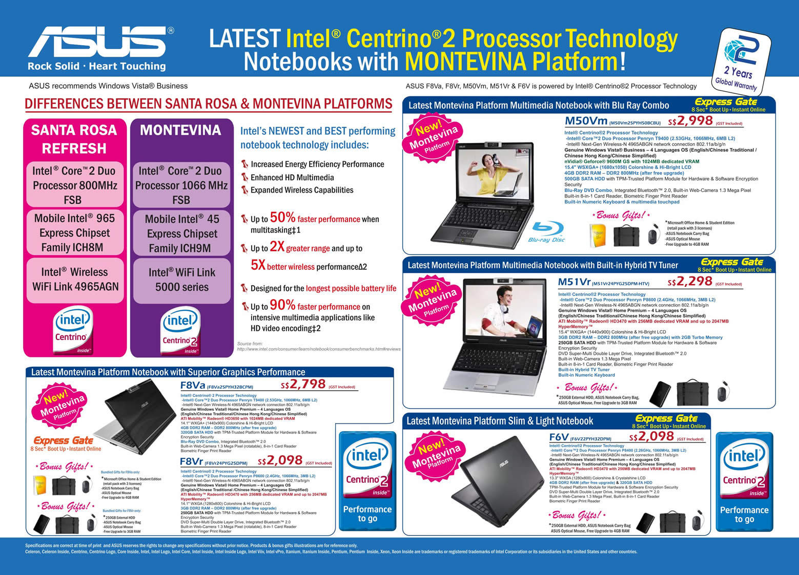 Comex 2008 price list image brochure of Asus Notebooks 2