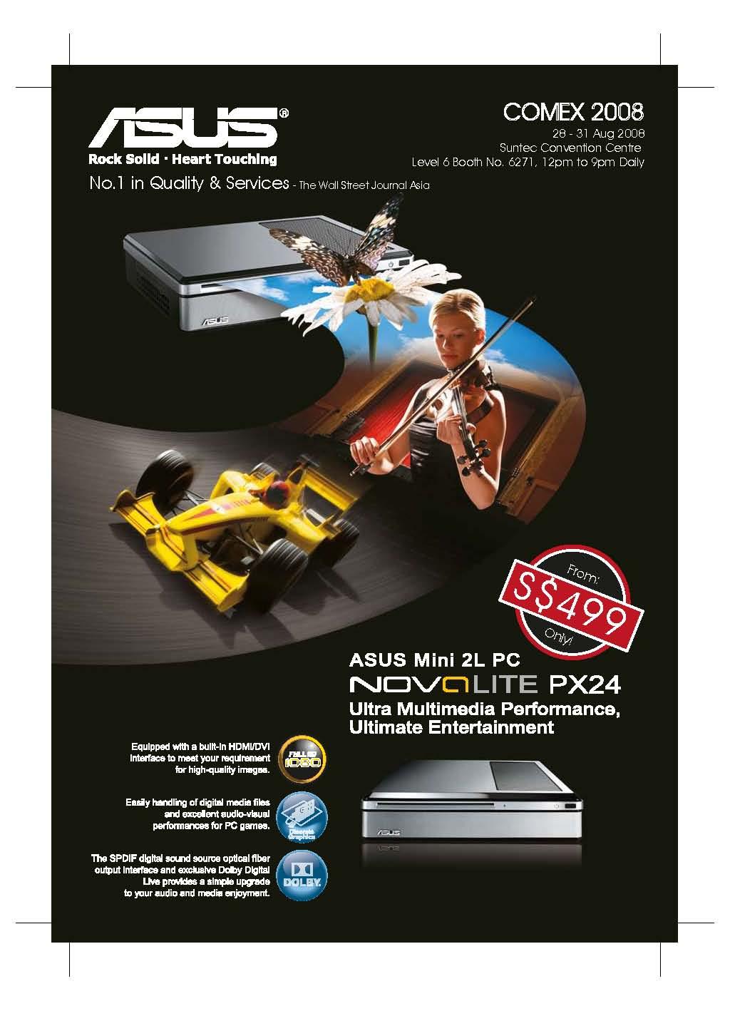 Comex 2008 price list image brochure of Asus Nova Lite Px24 1