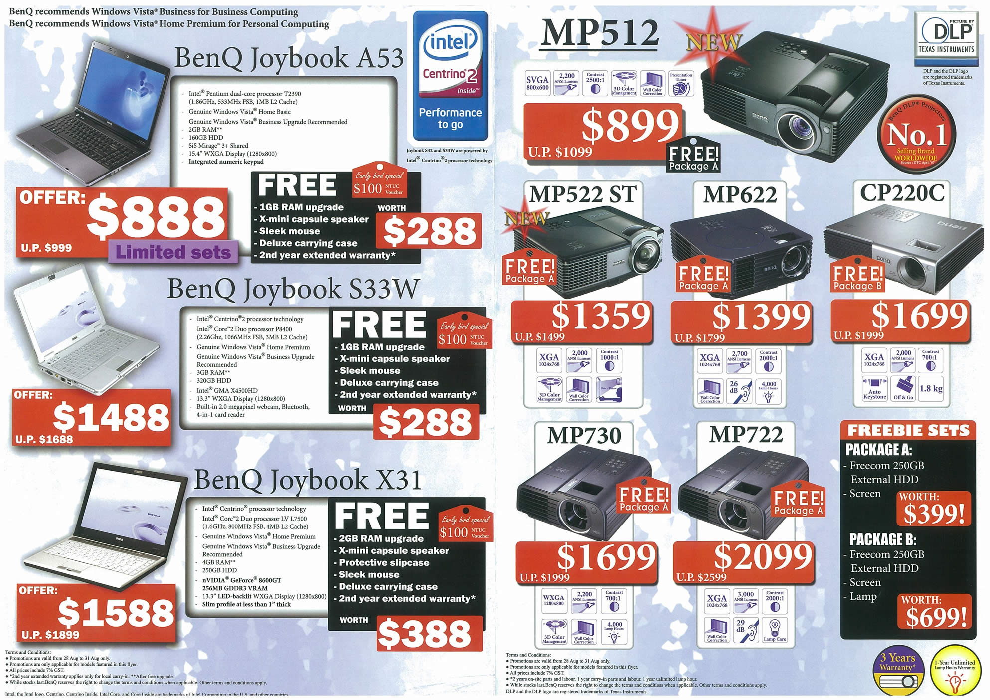 Comex 2008 price list image brochure of BenQ Page 2