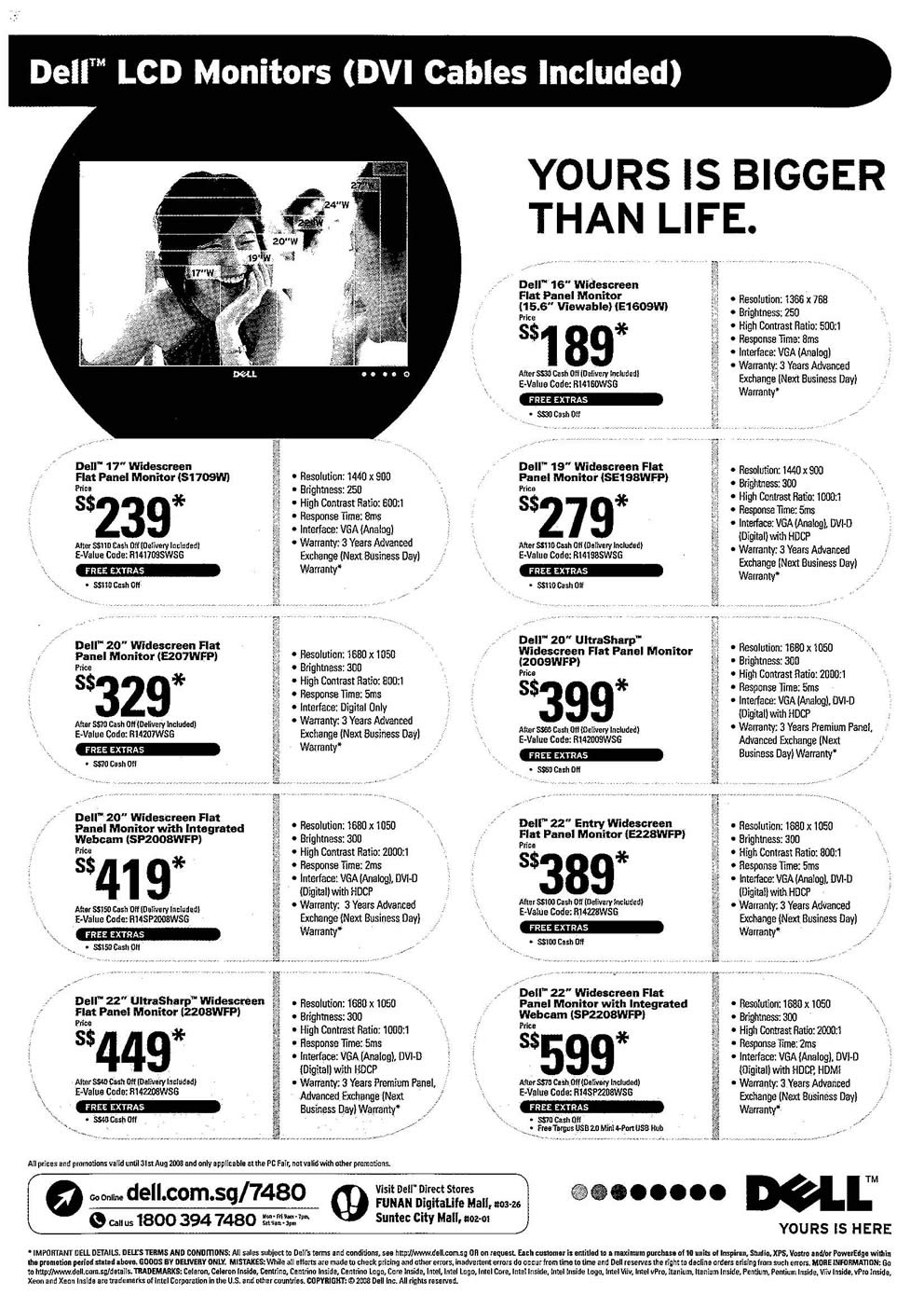 Comex 2008 price list image brochure of Dell LCD Monitor Page 1