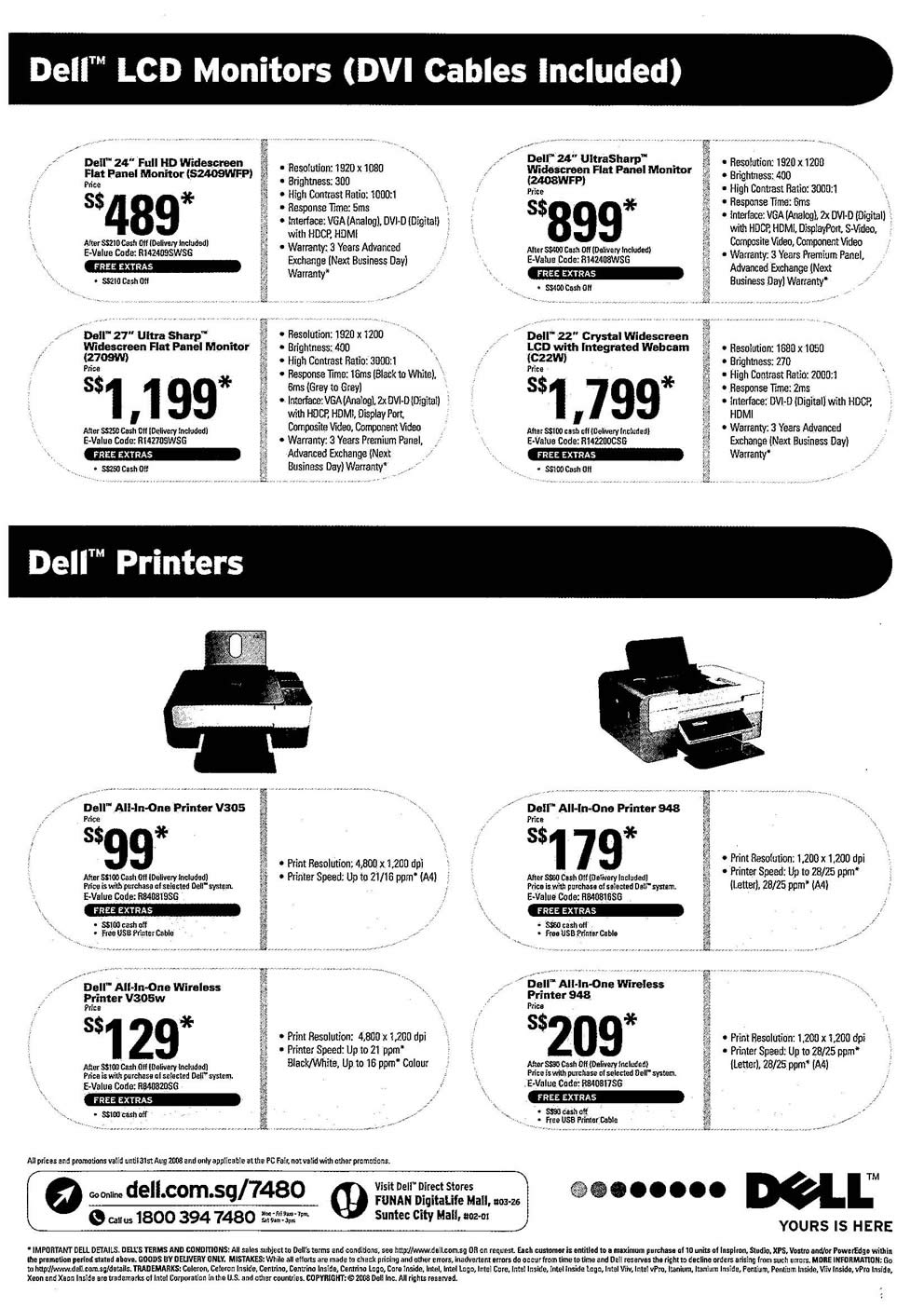 Comex 2008 price list image brochure of Dell LCD Monitor Page 2