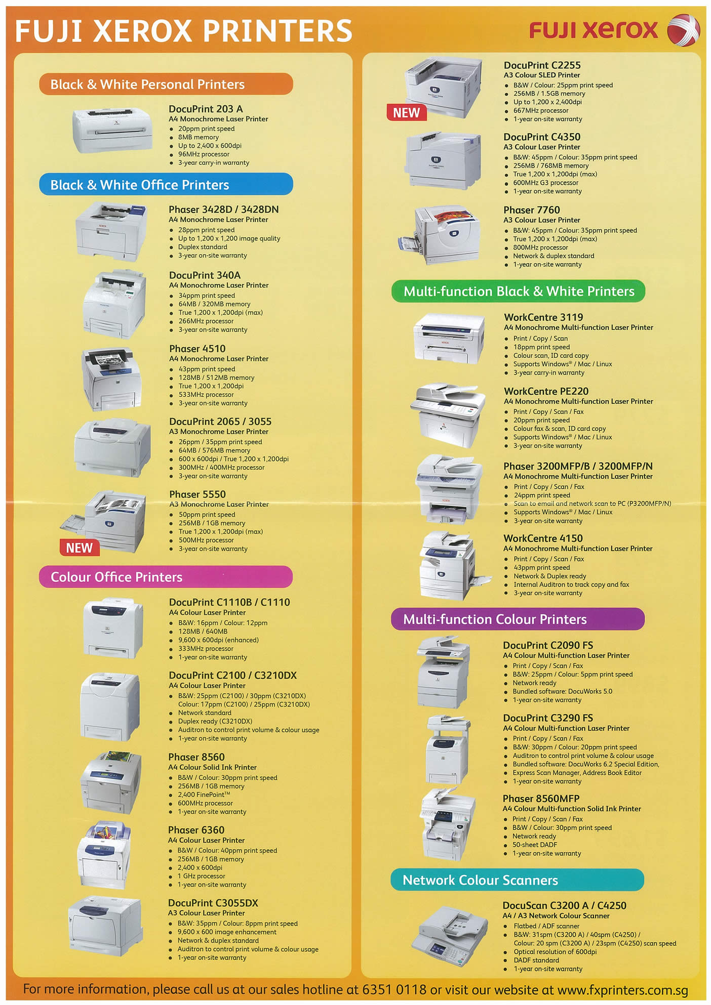 Comex 2008 price list image brochure of Fuji Xerox Page 2