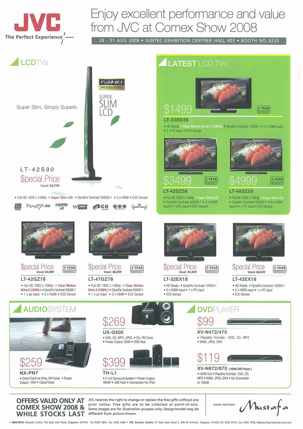 Comex 2008 price list image brochure of JVC  LCD TV Page 2