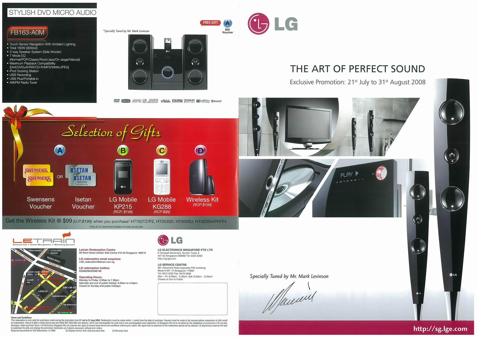 Comex 2008 price list image brochure of LG Home Theatre Systems Page 1