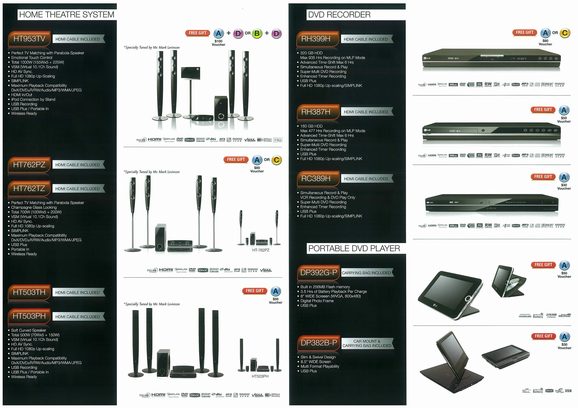 Comex 2008 price list image brochure of LG Home Theatre Systems Page 2