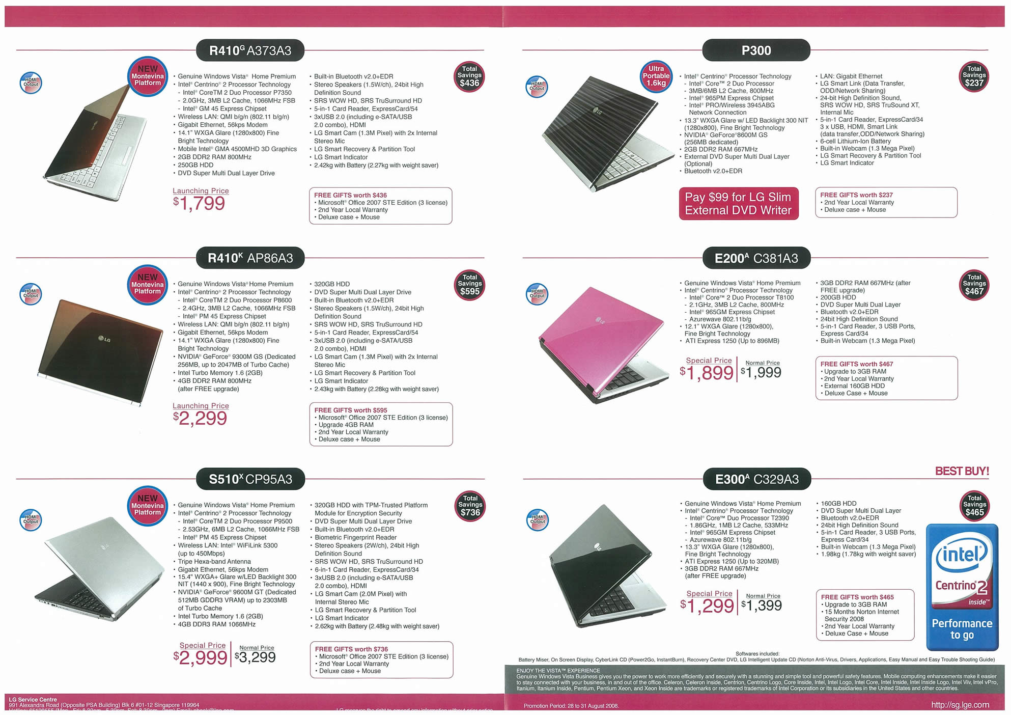 Comex 2008 price list image brochure of LG Notebooks Page 2