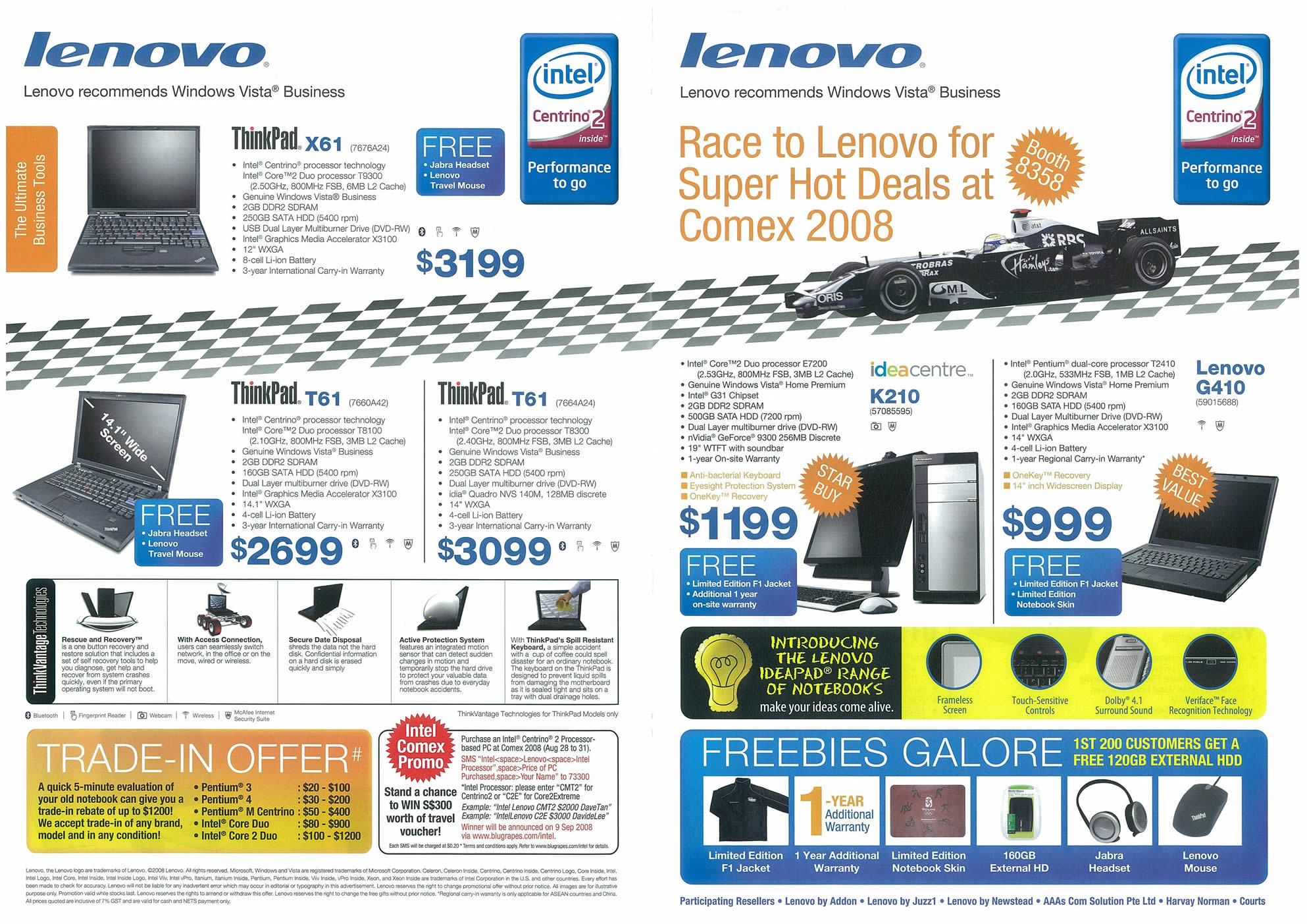 Comex 2008 price list image brochure of Lenovo Page 1