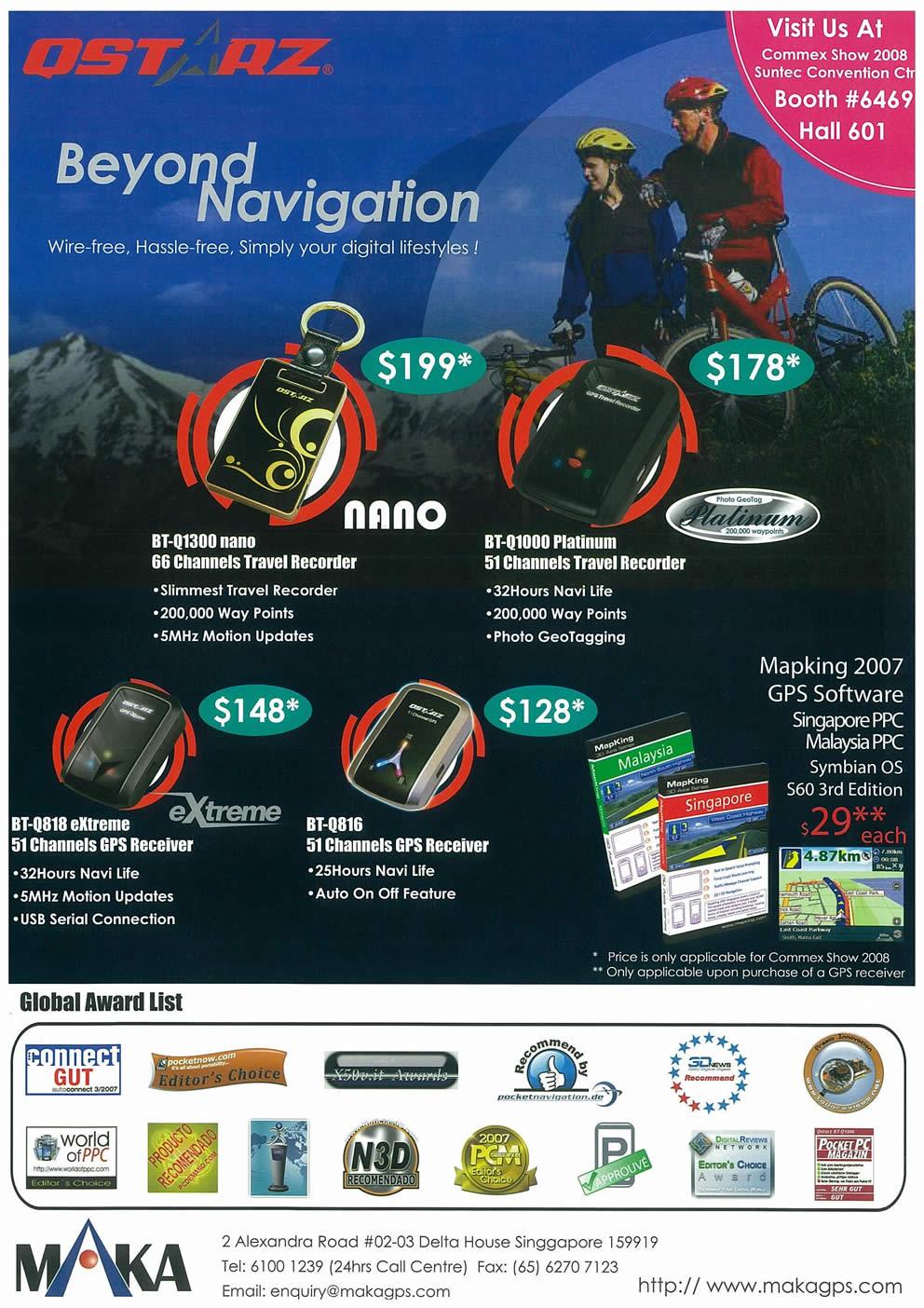 Comex 2008 price list image brochure of MAKA GPS