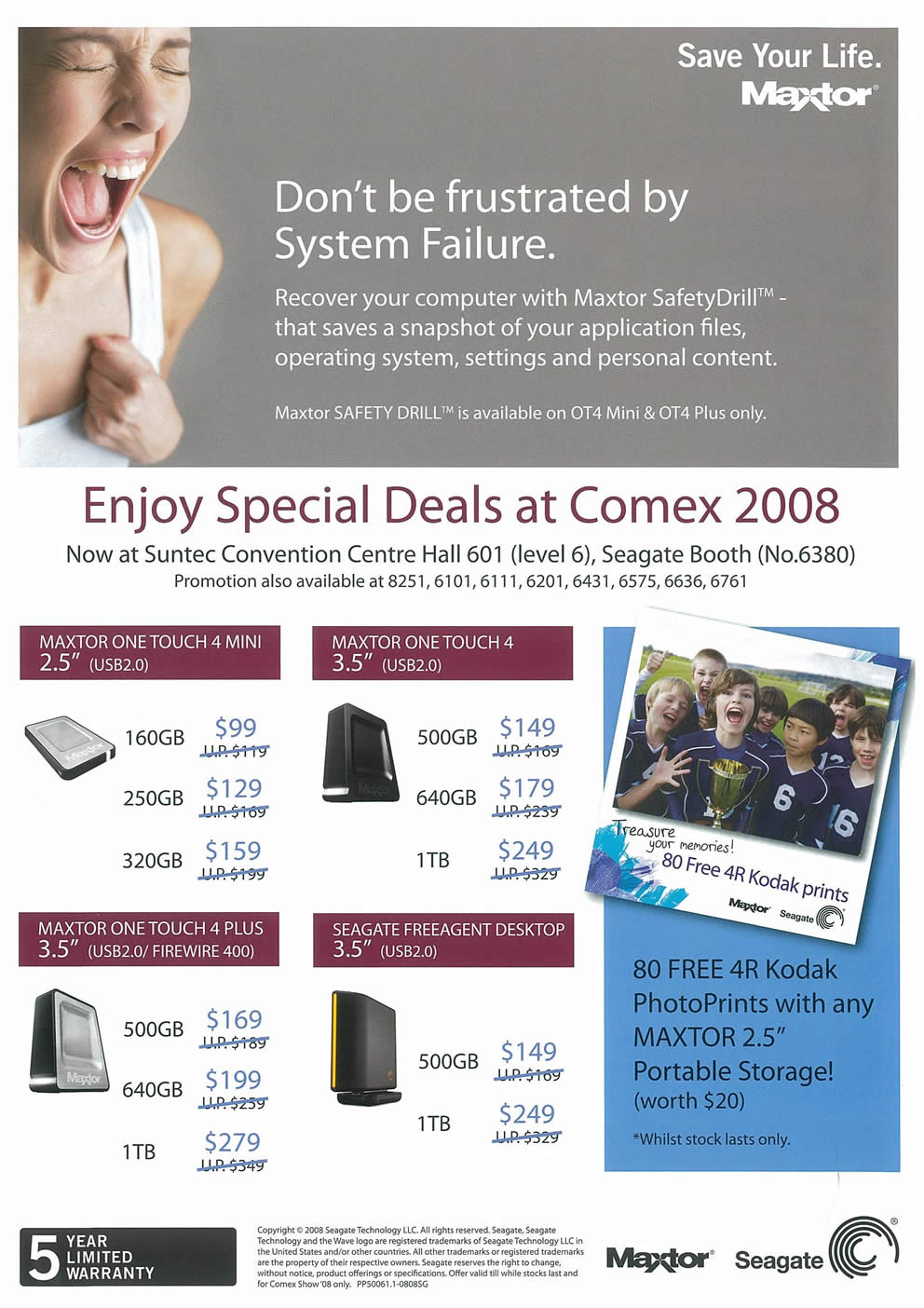 Comex 2008 price list image brochure of Maxtor Page 2