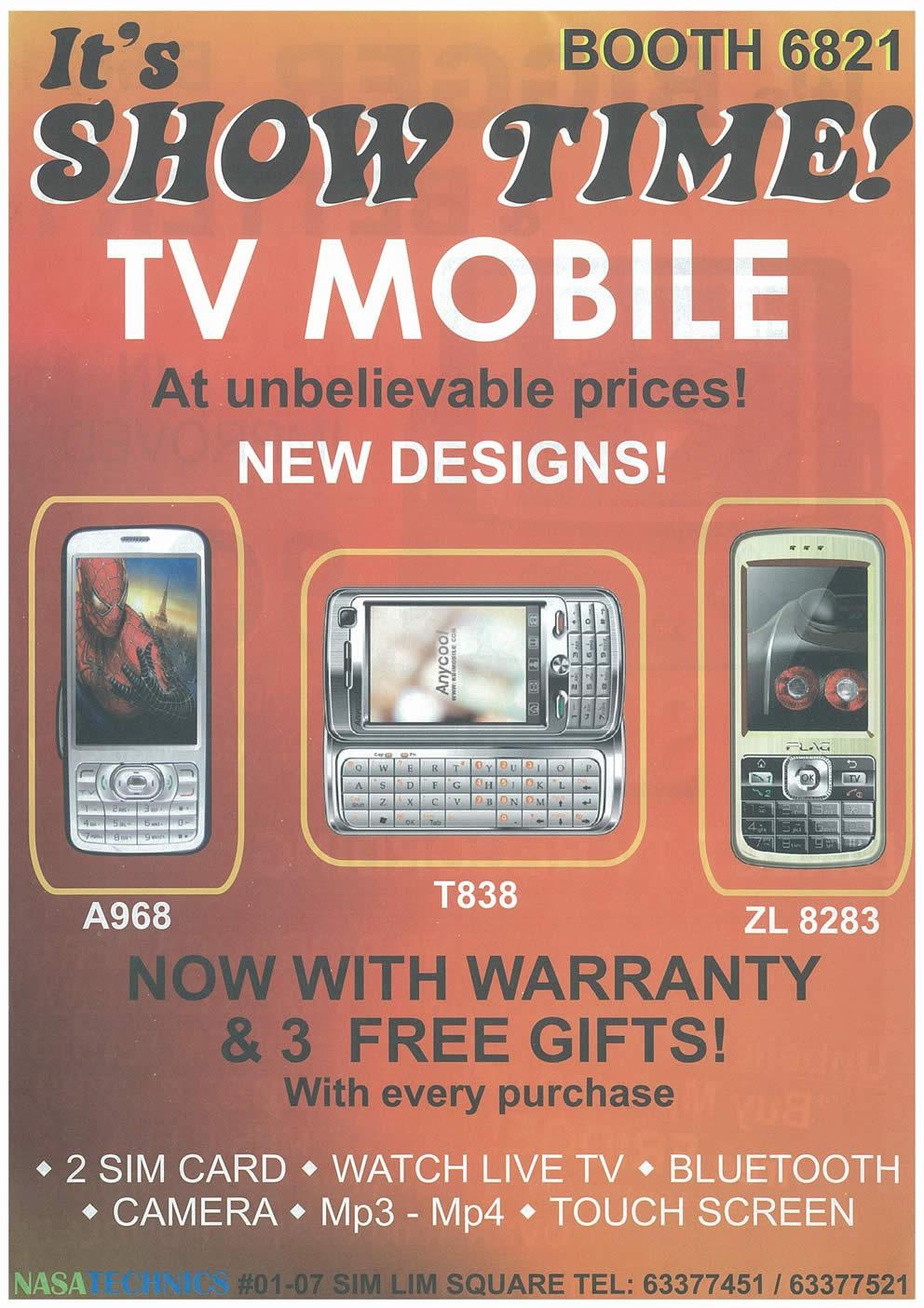 Comex 2008 price list image brochure of NASA TECHNICS Tv Mobile Page 2