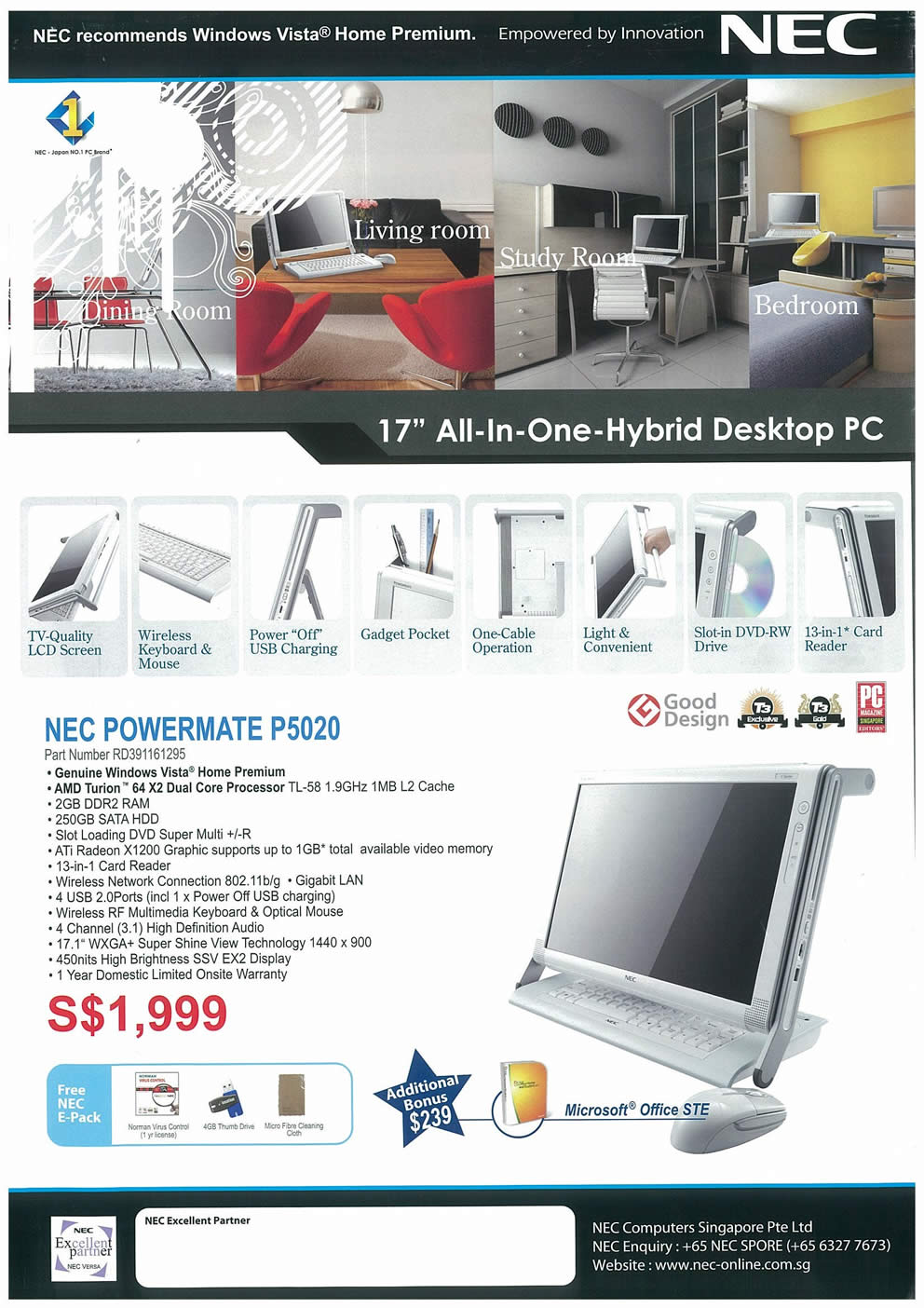 Comex 2008 price list image brochure of NEC Notebooks Page 4