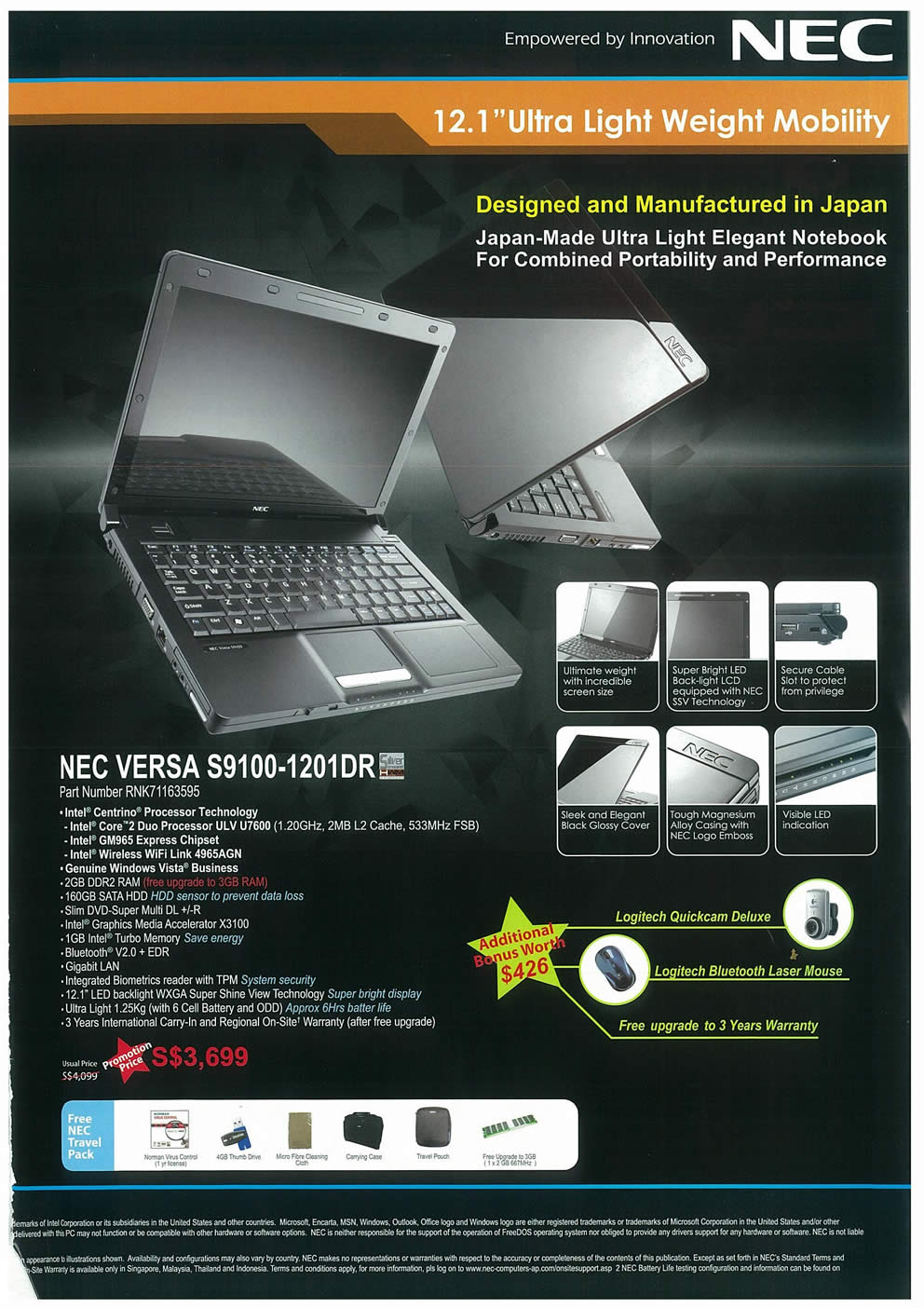 Comex 2008 price list image brochure of NEC Notebooks Page 5