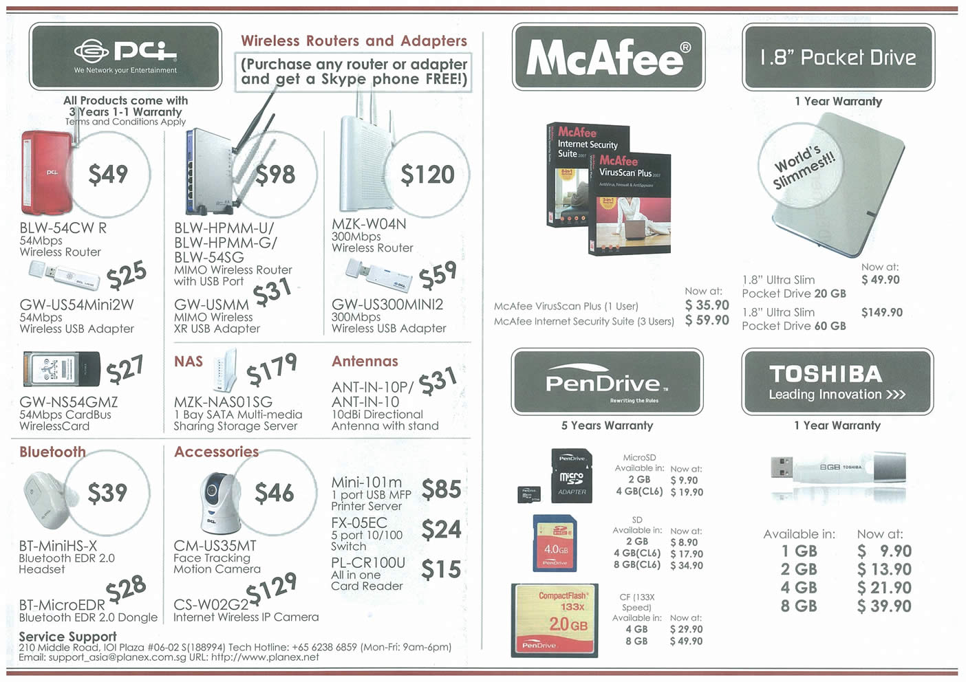 Comex 2008 price list image brochure of PCi