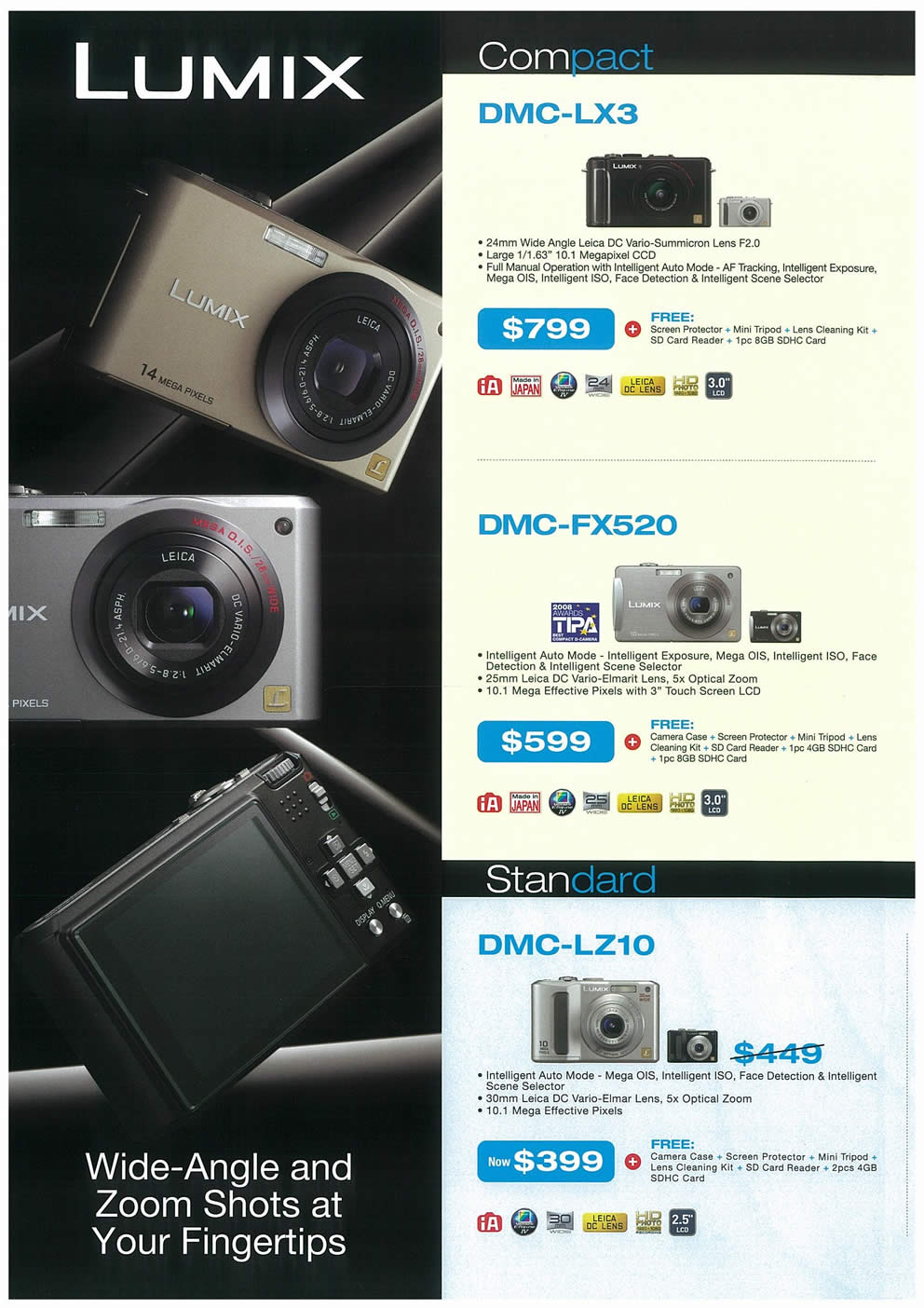 Comex 2008 price list image brochure of Panasonic Cameras Camcorders Page 2