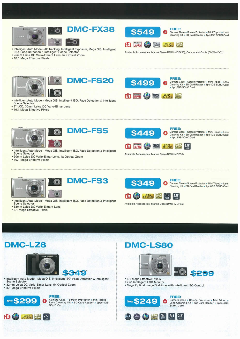 Comex 2008 price list image brochure of Panasonic Cameras Camcorders Page 3
