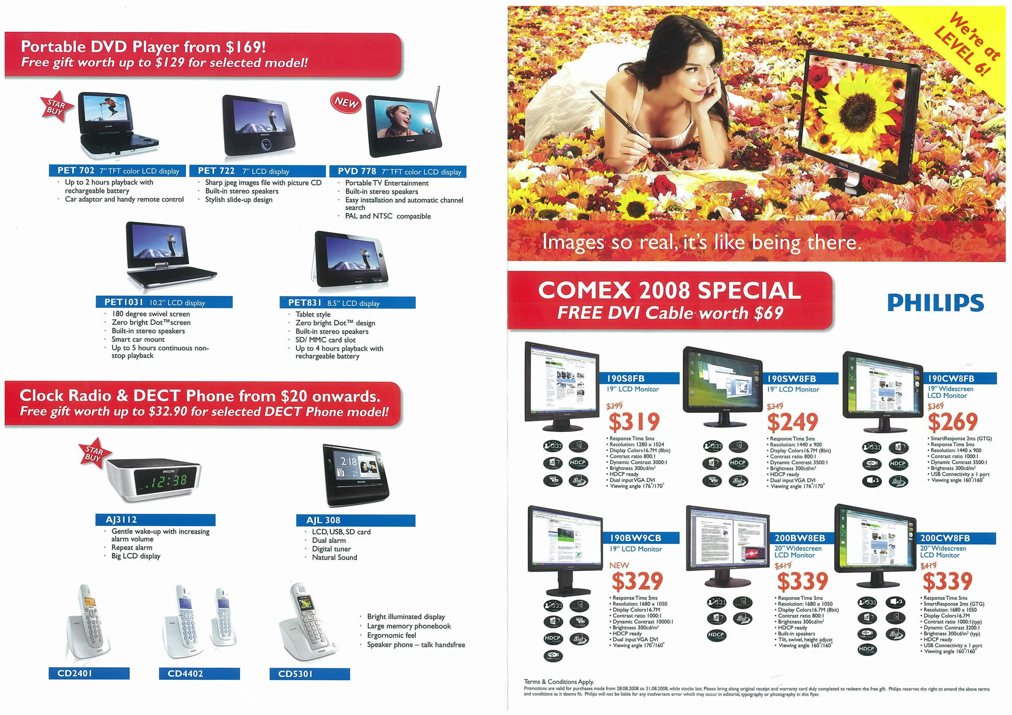 Comex 2008 price list image brochure of Philips Page 1