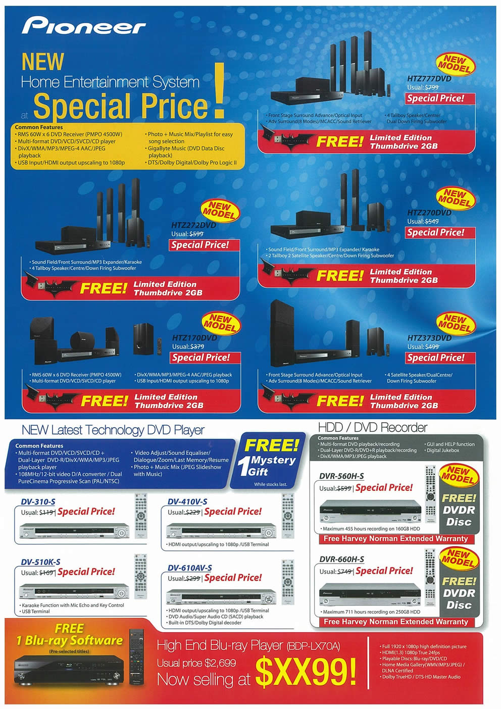Comex 2008 price list image brochure of Pioneer Page 2