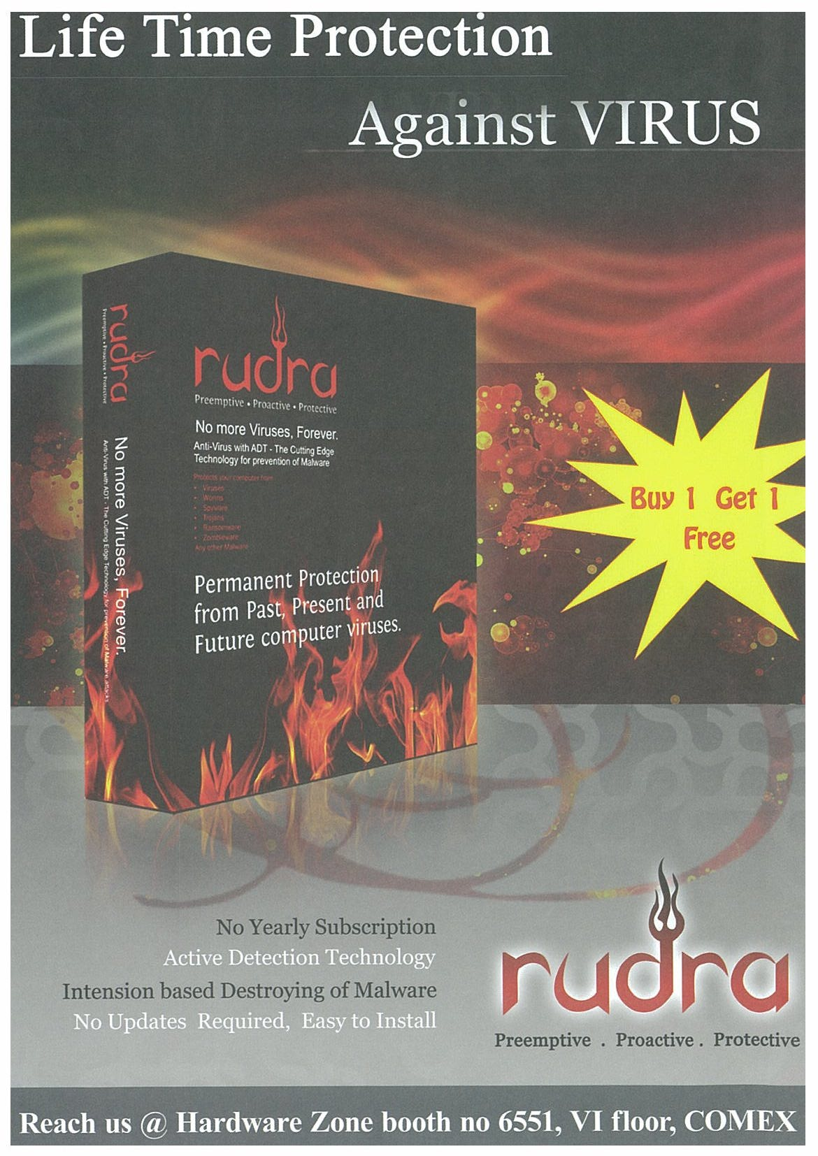 Comex 2008 price list image brochure of Rudra