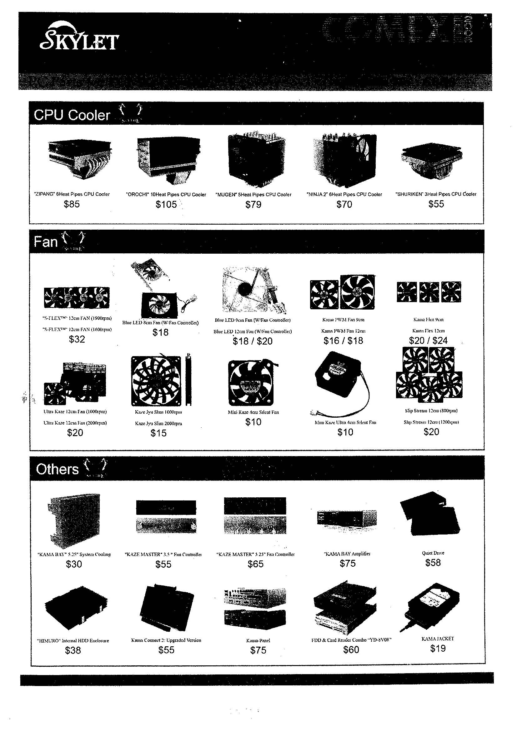 Comex 2008 price list image brochure of Skylet Page 2