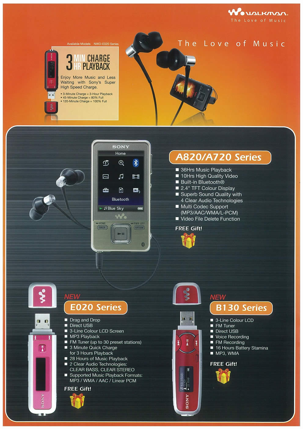 Comex 2008 price list image brochure of Sony Walkman Page 5