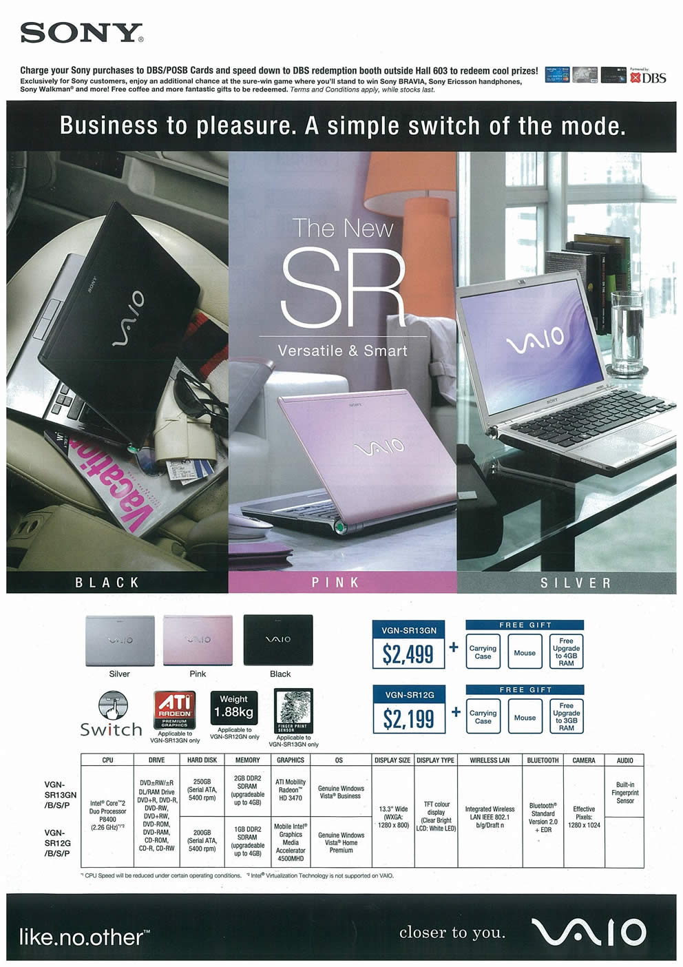 Comex 2008 price list image brochure of Sony VAIO Page 1