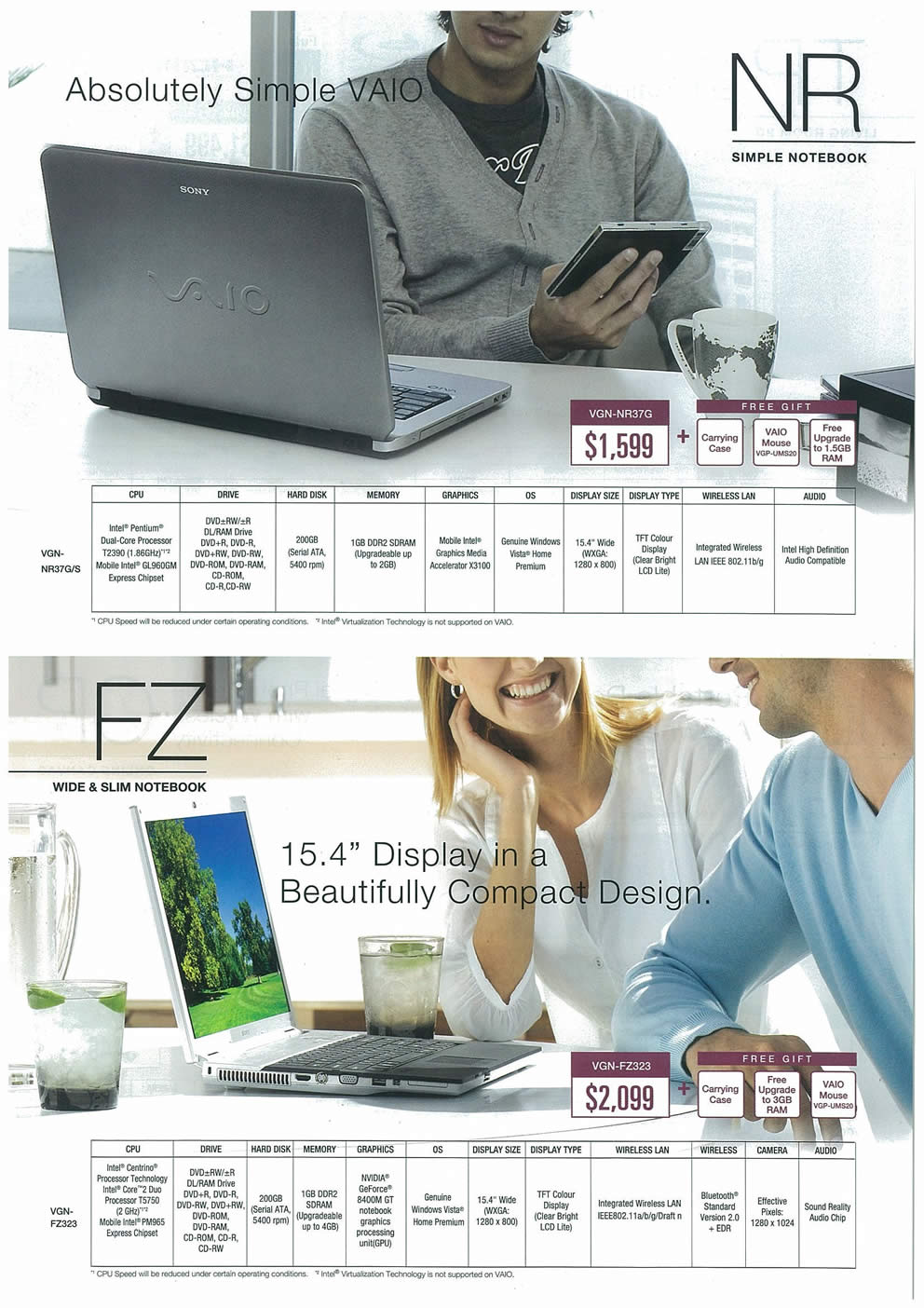 Comex 2008 price list image brochure of Sony VAIO Page 5