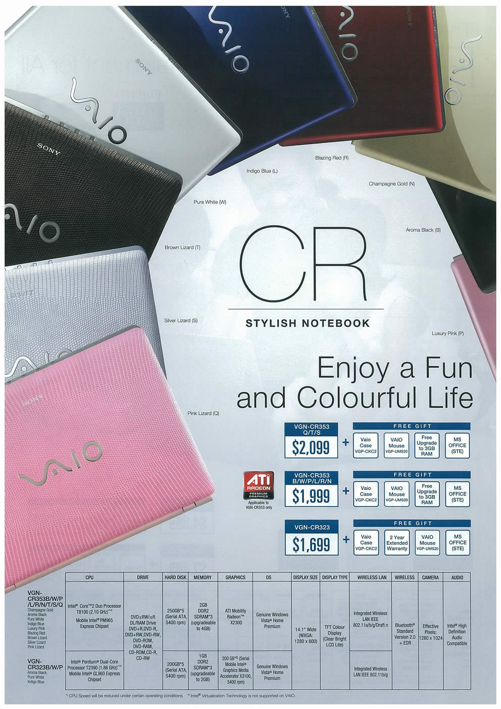 Comex 2008 price list image brochure of Sony VAIO Notebooks Page 4