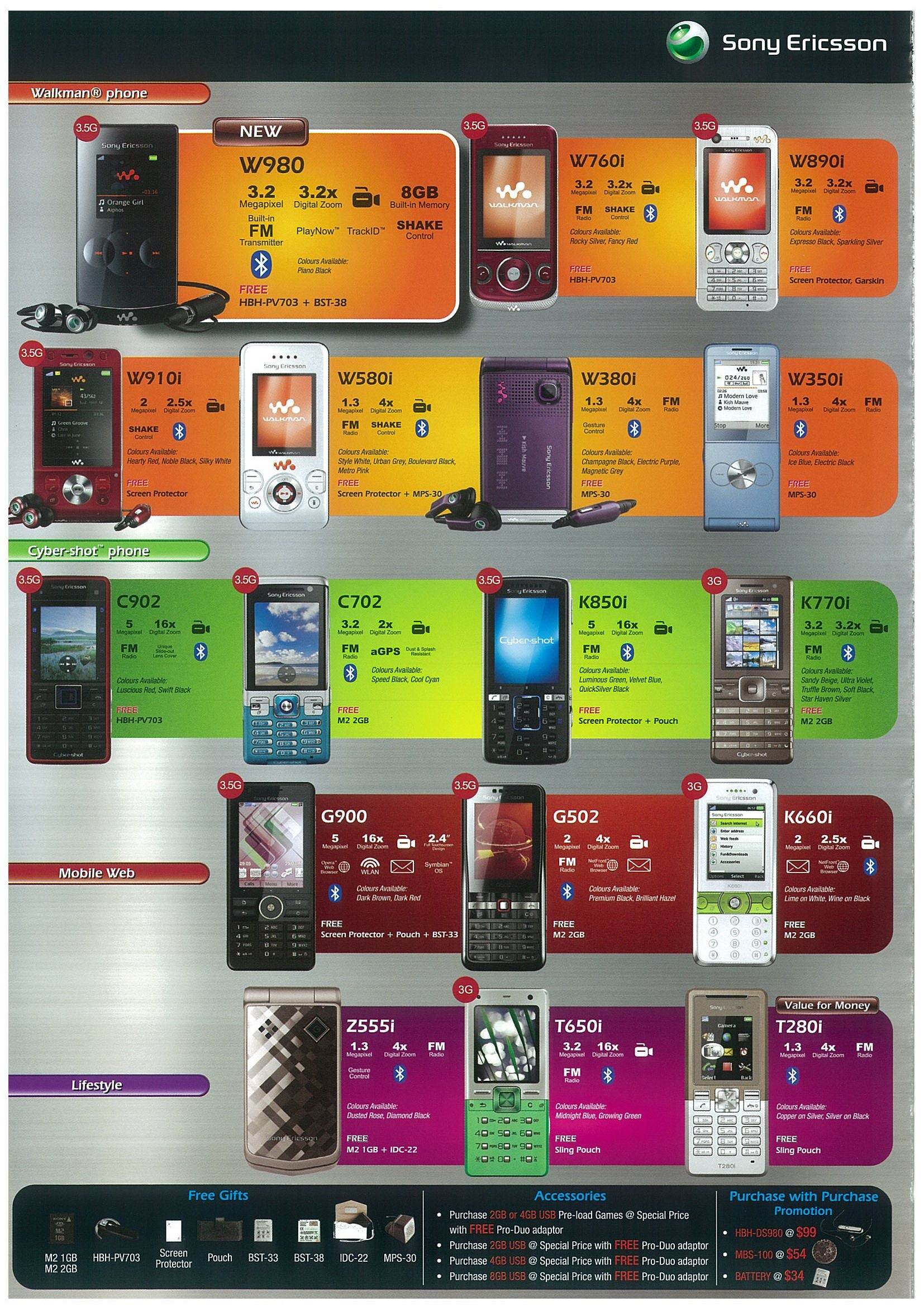 Comex 2008 price list image brochure of Sony Ericsson Page 6