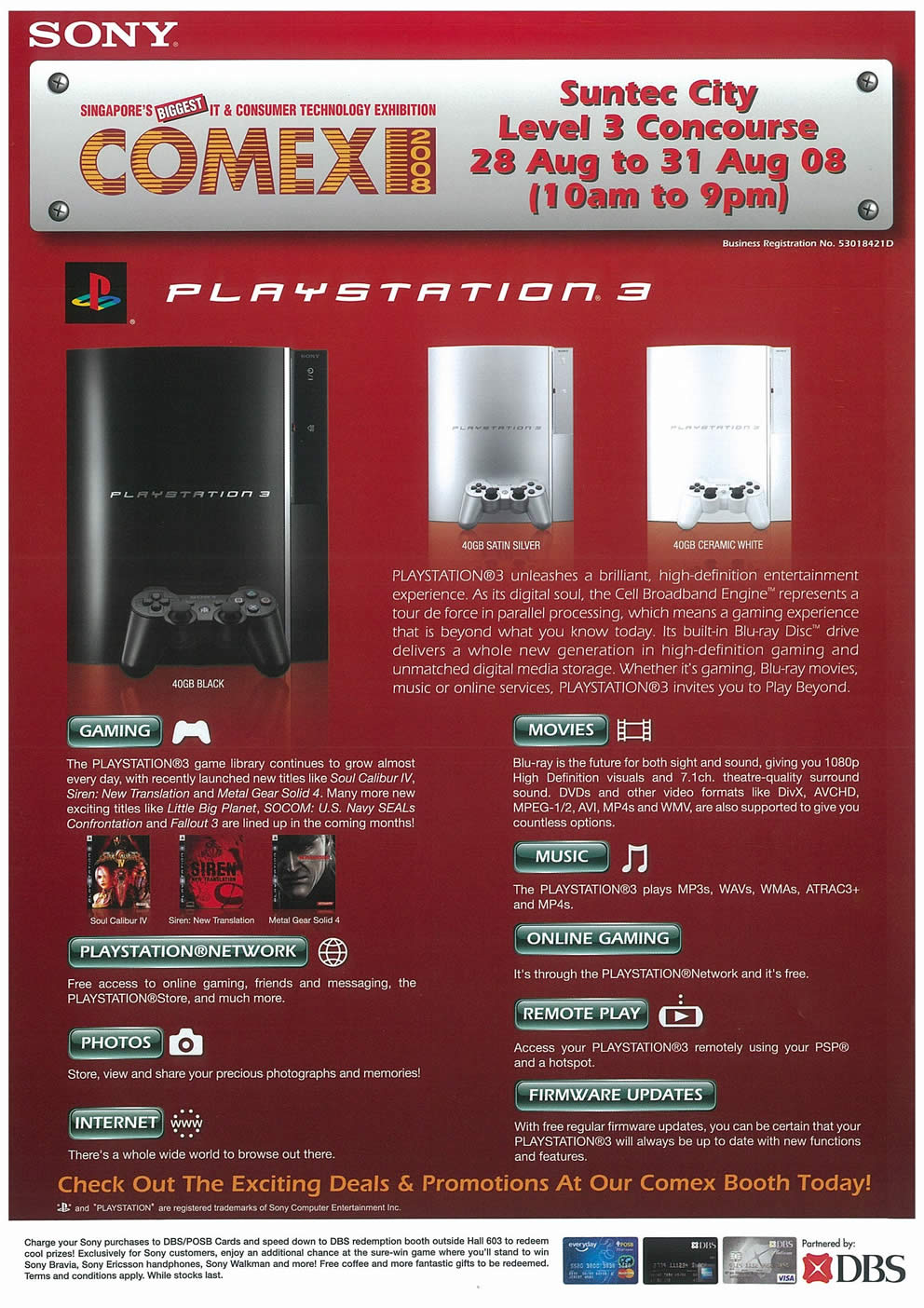 Comex 2008 price list image brochure of Sony Playstation3 Page 1