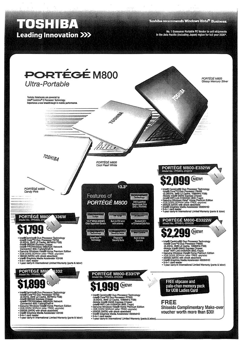 Comex 2008 price list image brochure of Toshiba Notebooks 02 Page 1