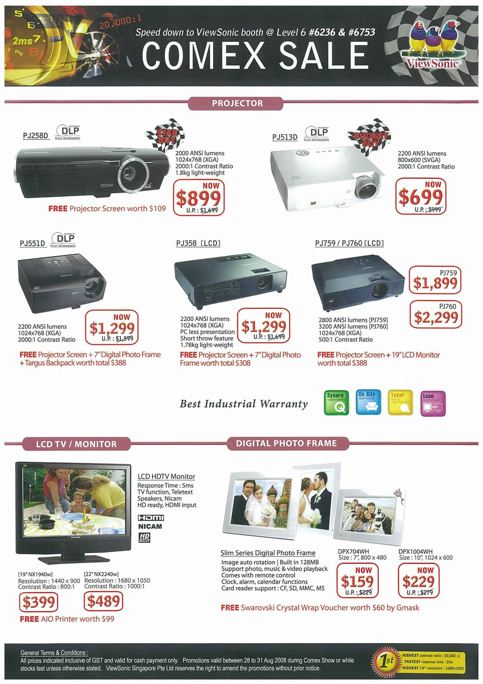 Comex 2008 price list image brochure of Viewsonic Page 2