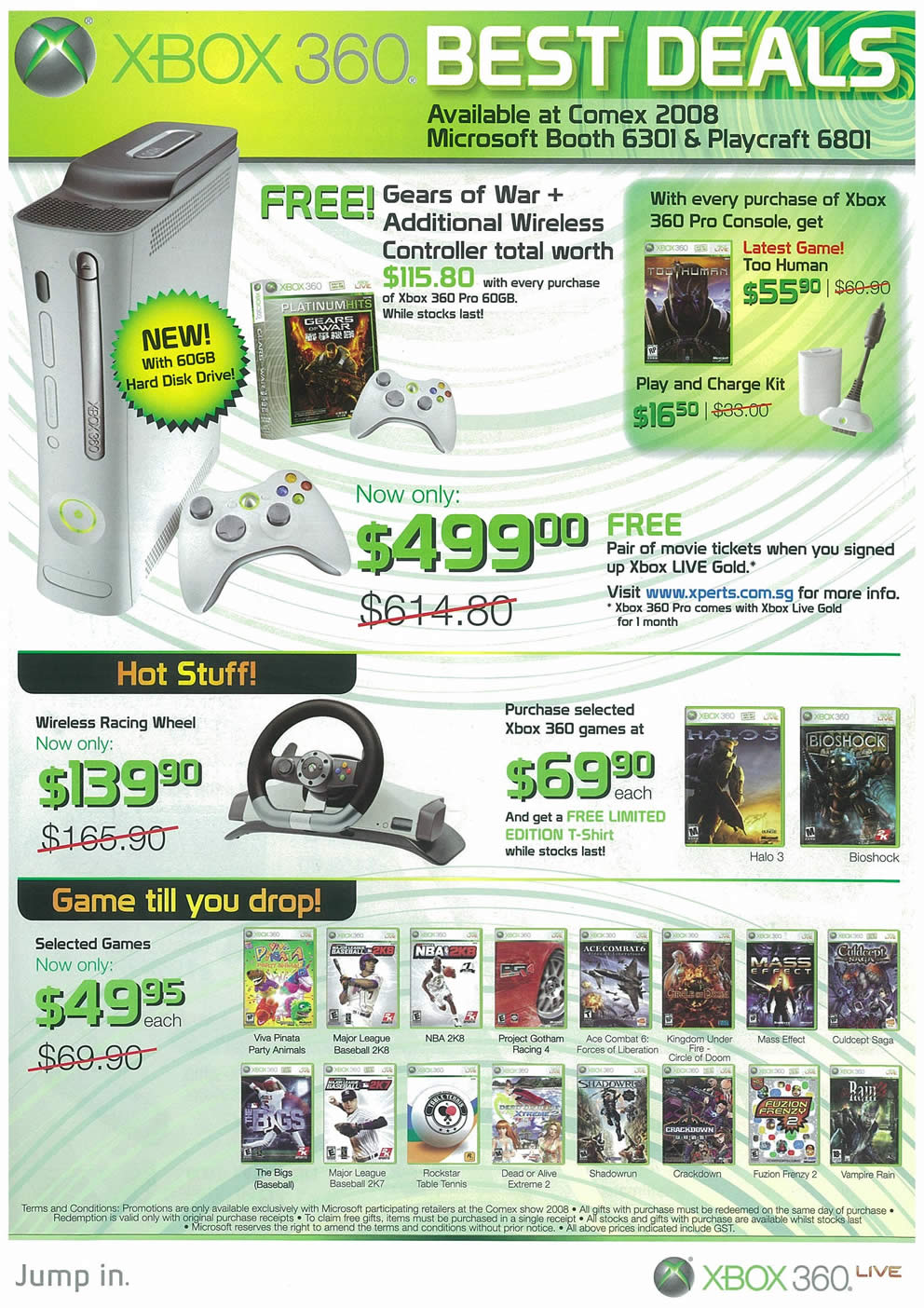 Comex 2008 price list image brochure of XBOX 360 Page 1