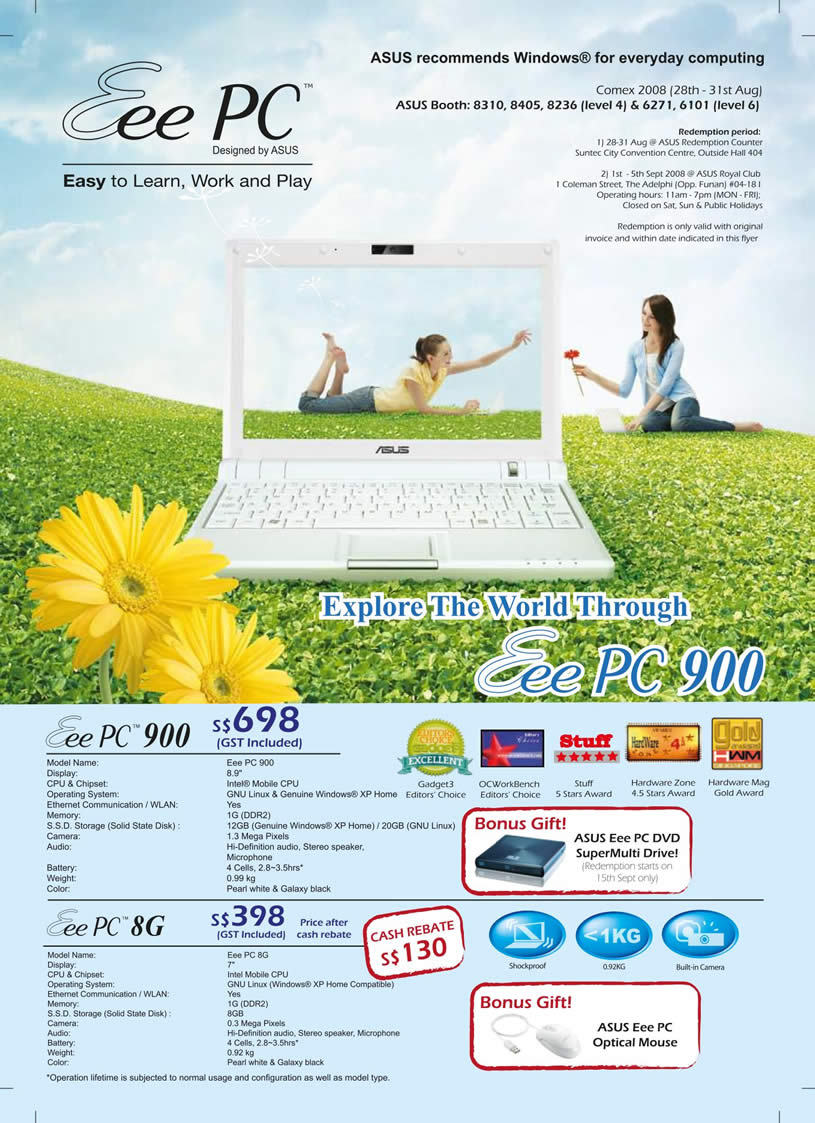 Comex 2008 price list image brochure of Asus Eee Pc Back.pdf 01