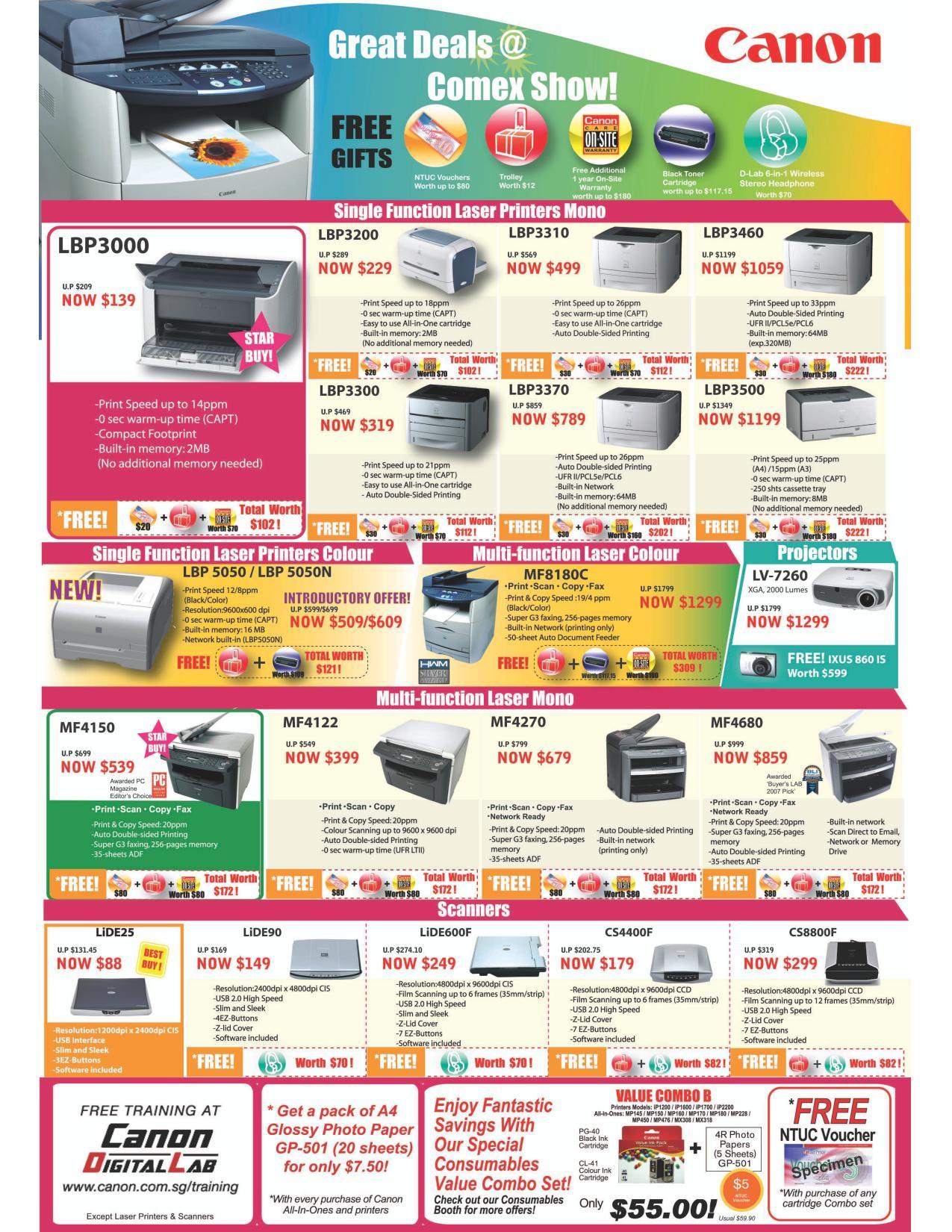 Comex 2008 price list image brochure of Canon Printers Comexshow-lbp Pathed .pdf 01