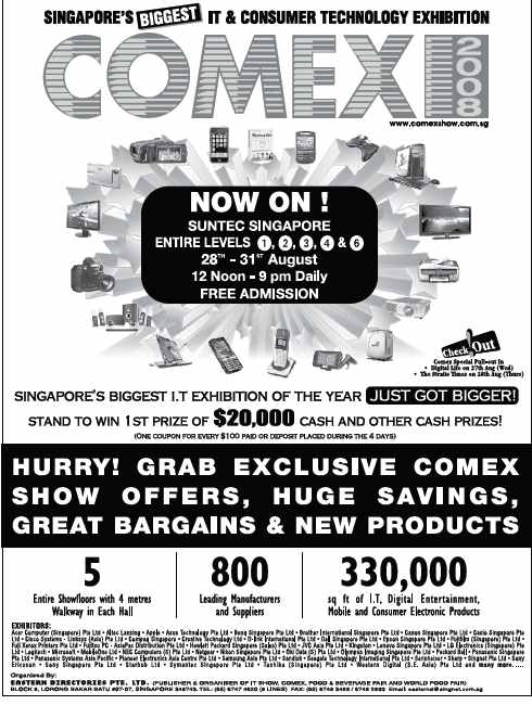 Comex 2008 price list image brochure of Comex Ad