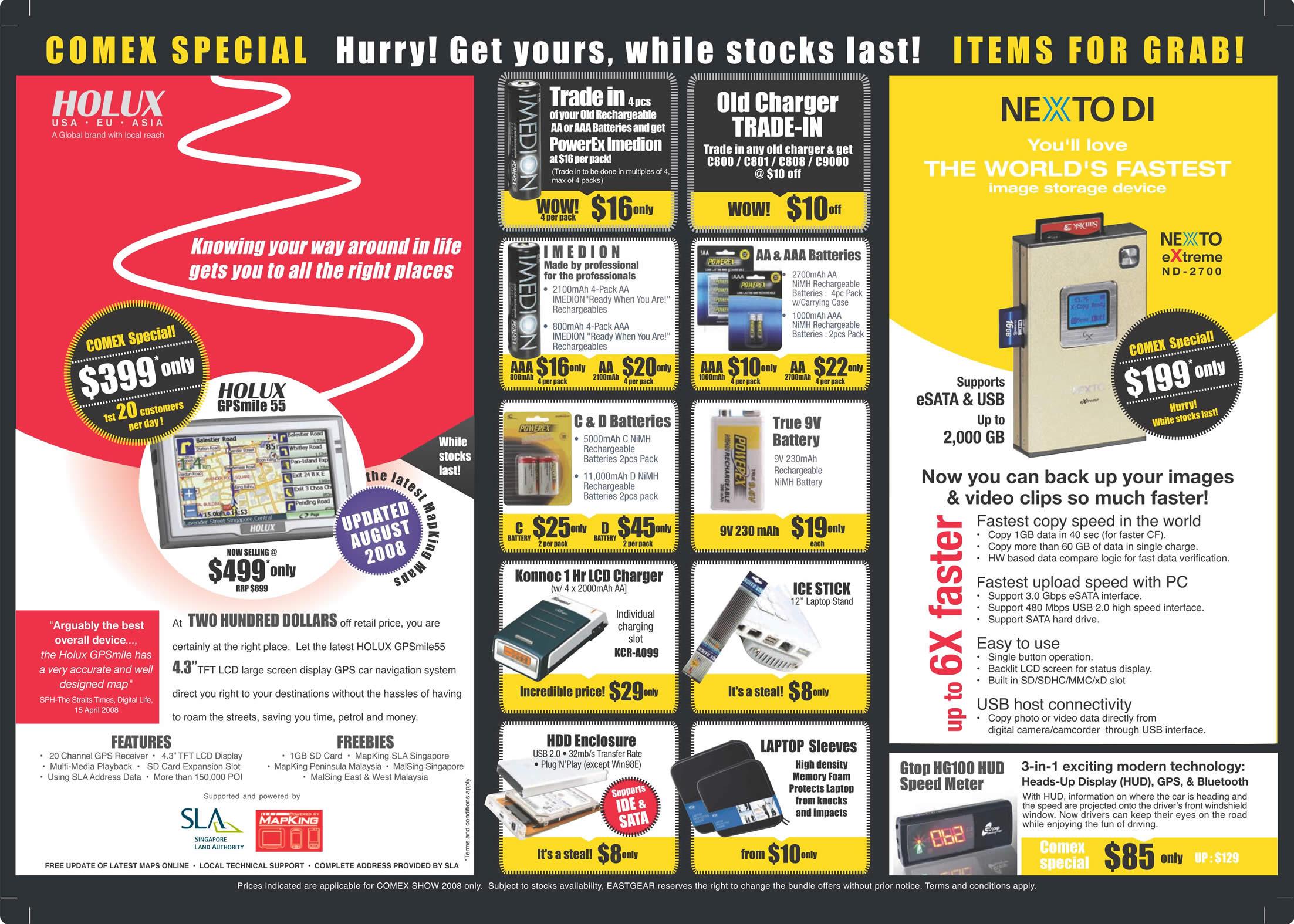 Comex 2008 price list image brochure of Eastgear Holux Nexto Di Comex.pdf 02