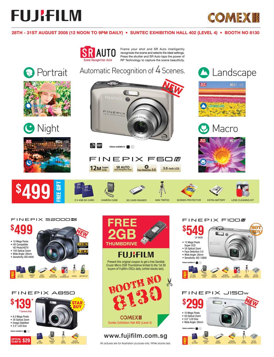 Comex 2008 price list image brochure of Fujifilm Cameras