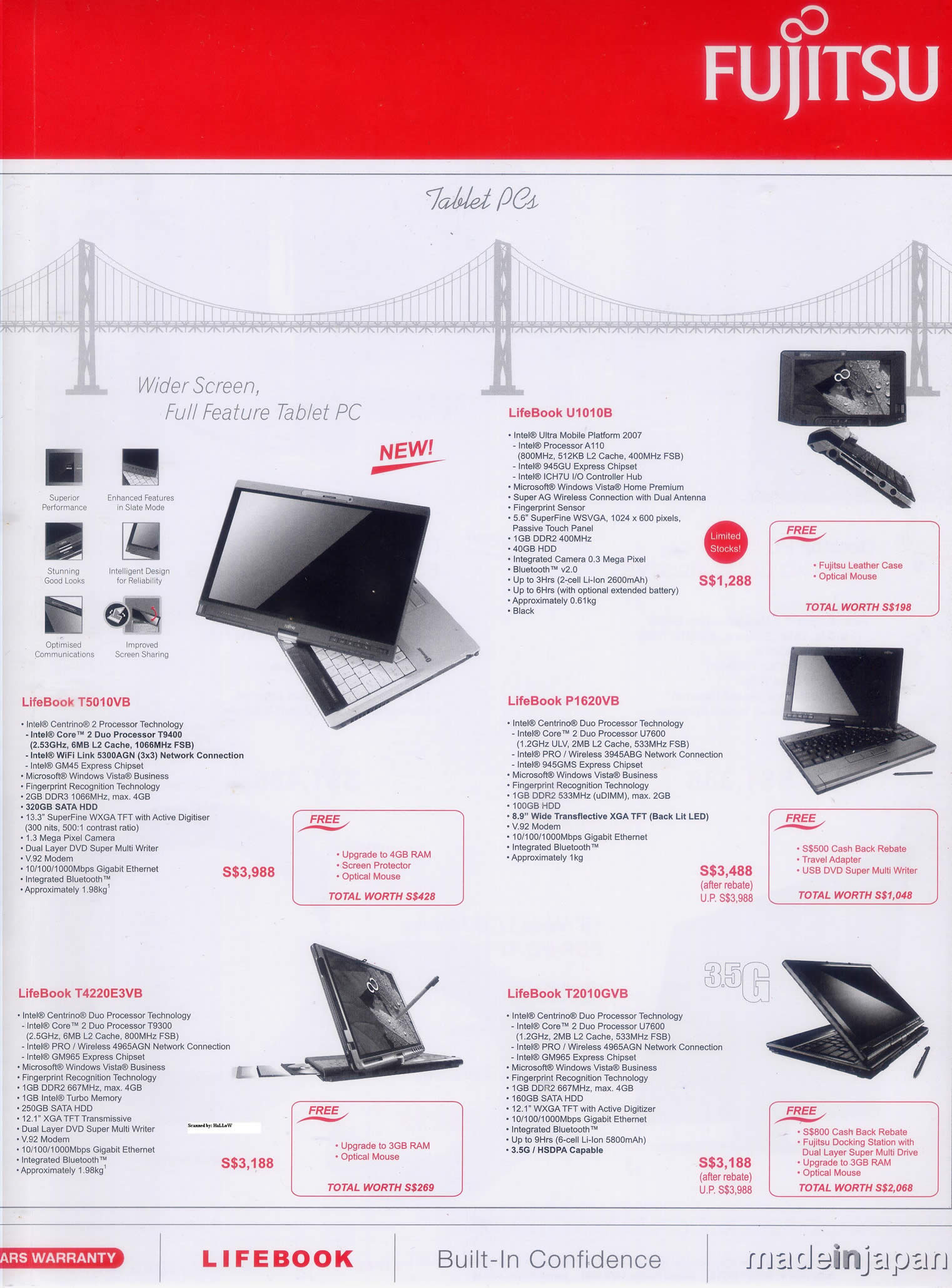 Comex 2008 price list image brochure of Fujitsu 4