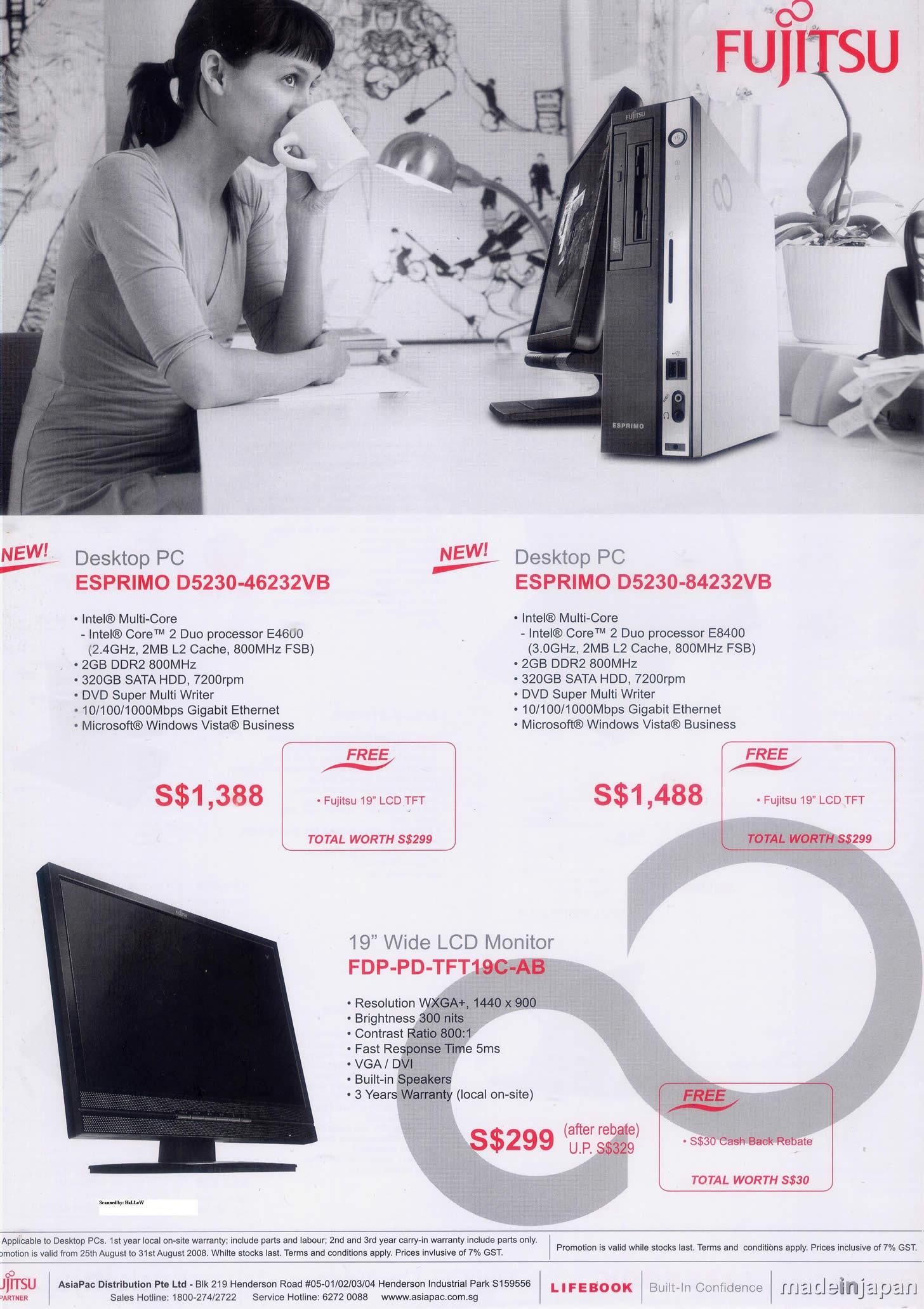 Comex 2008 price list image brochure of Fujitsu 5