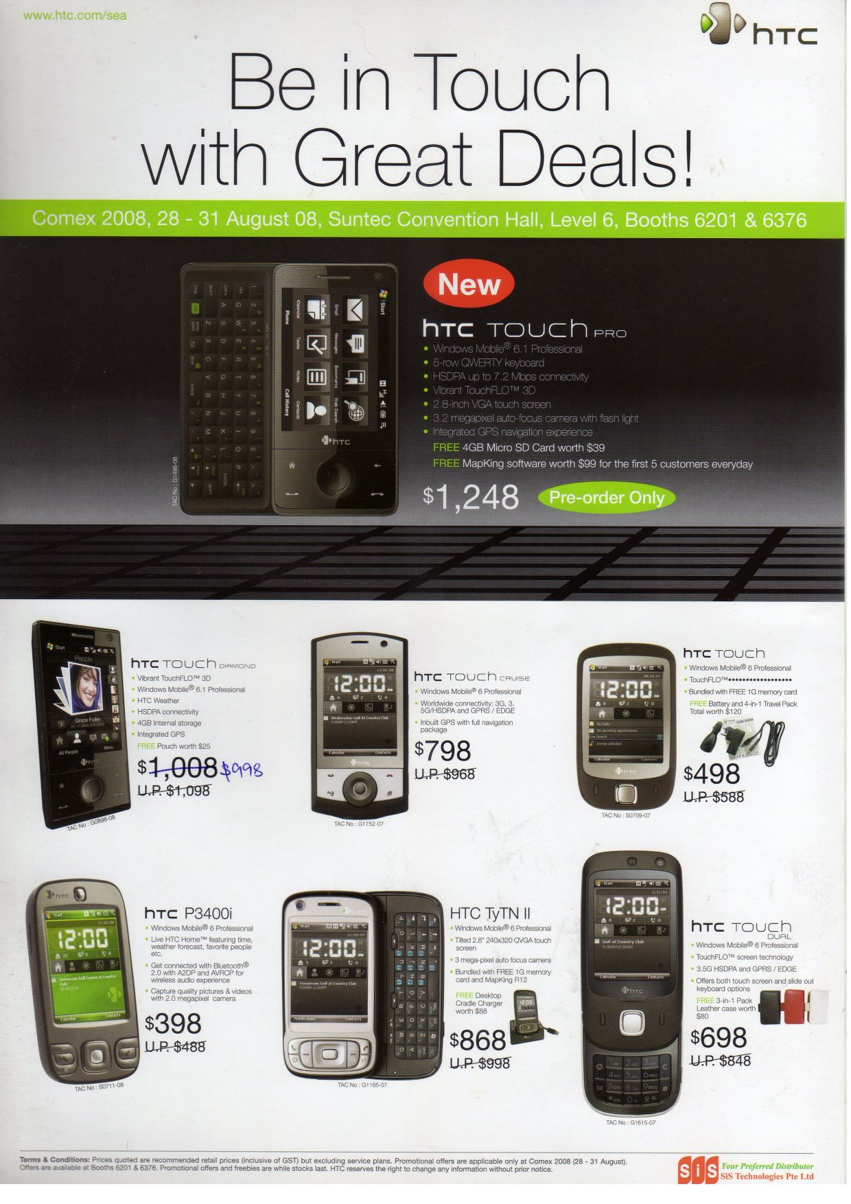Comex 2008 price list image brochure of Htc Pdf 01