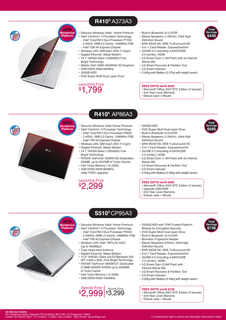 Comex 2008 price list image brochure of Lg Laptop 4