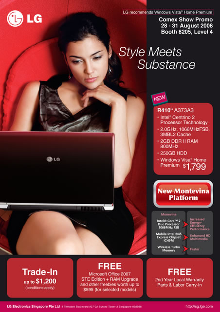 Comex 2008 price list image brochure of Lg Laptop1