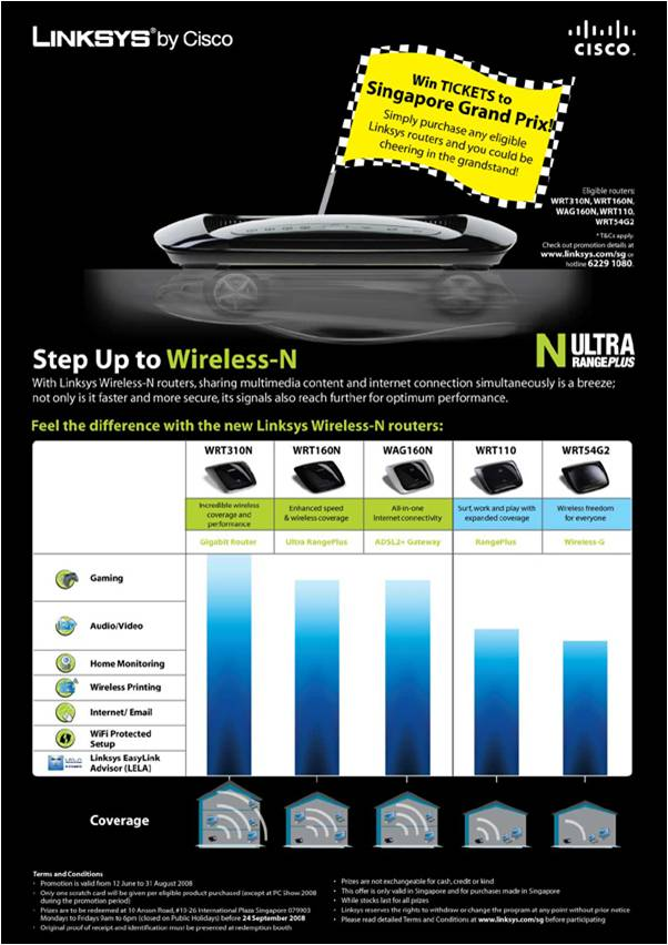 Comex 2008 price list image brochure of Linksys Wireless N 2MarineX