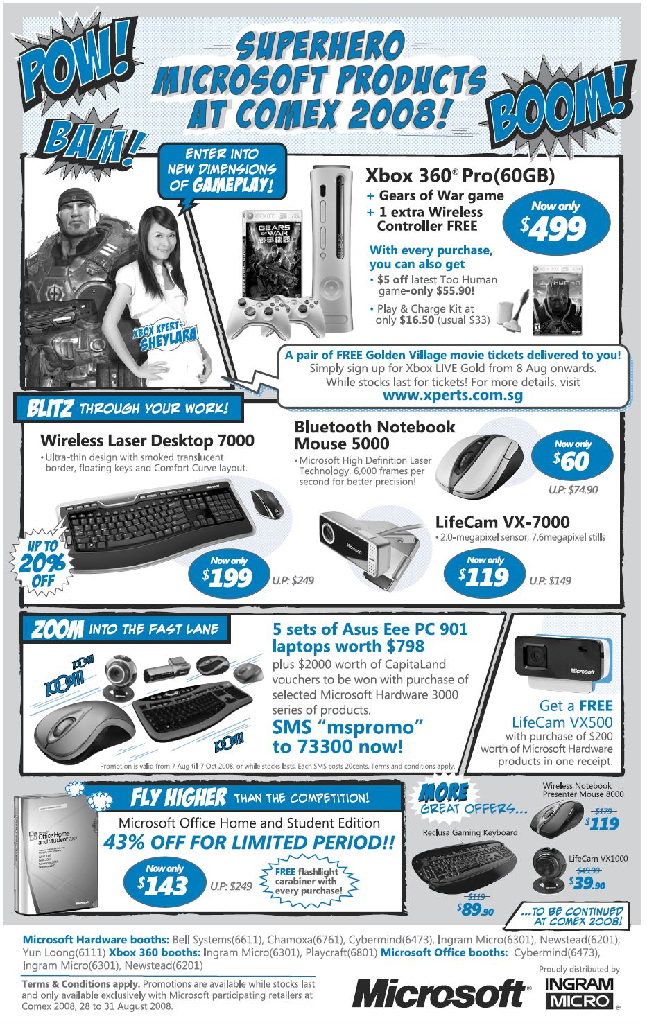 Comex 2008 price list image brochure of Microsoft Hardware